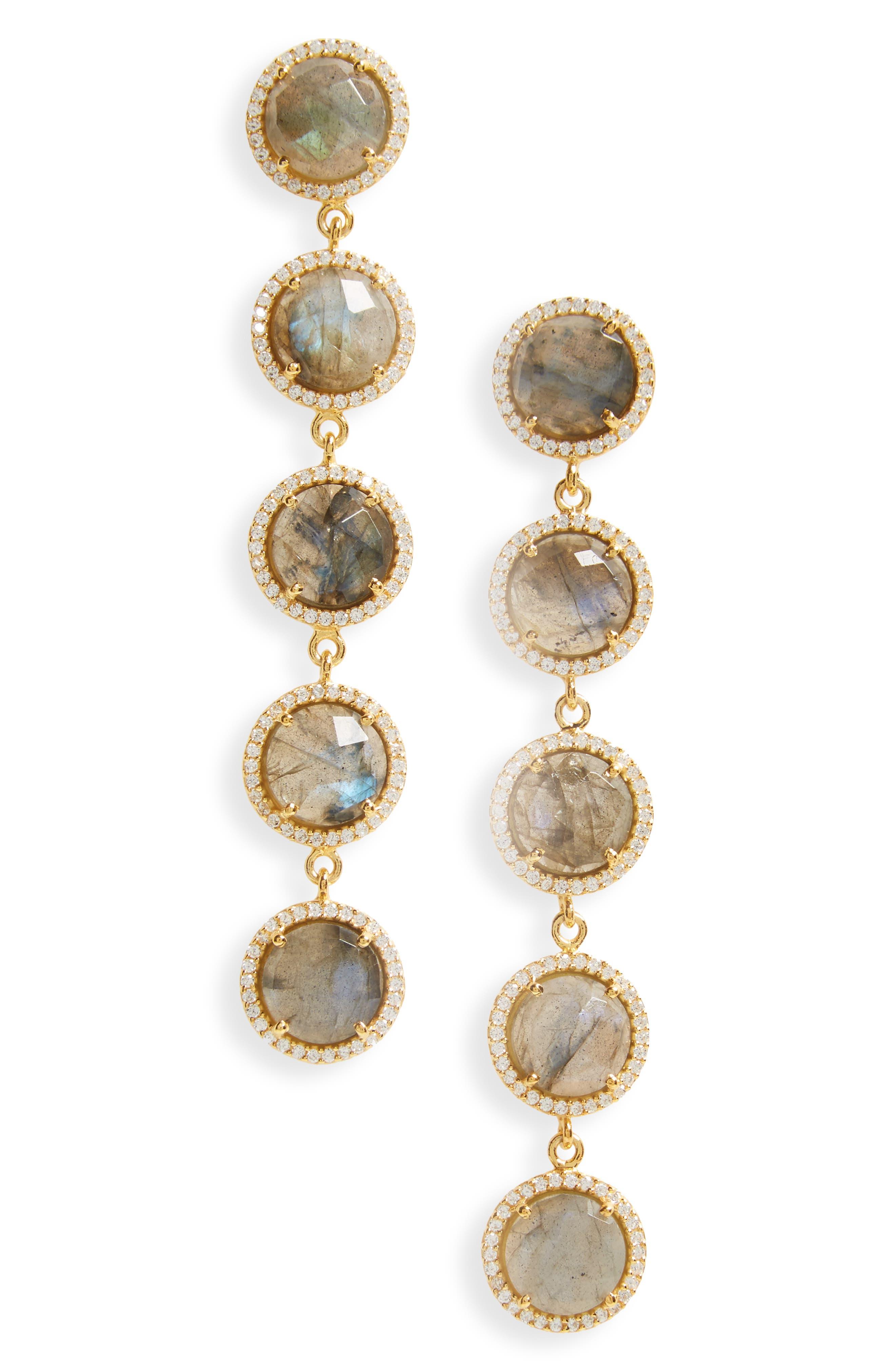 Susan Hanover Five-Stone Drop Earrings