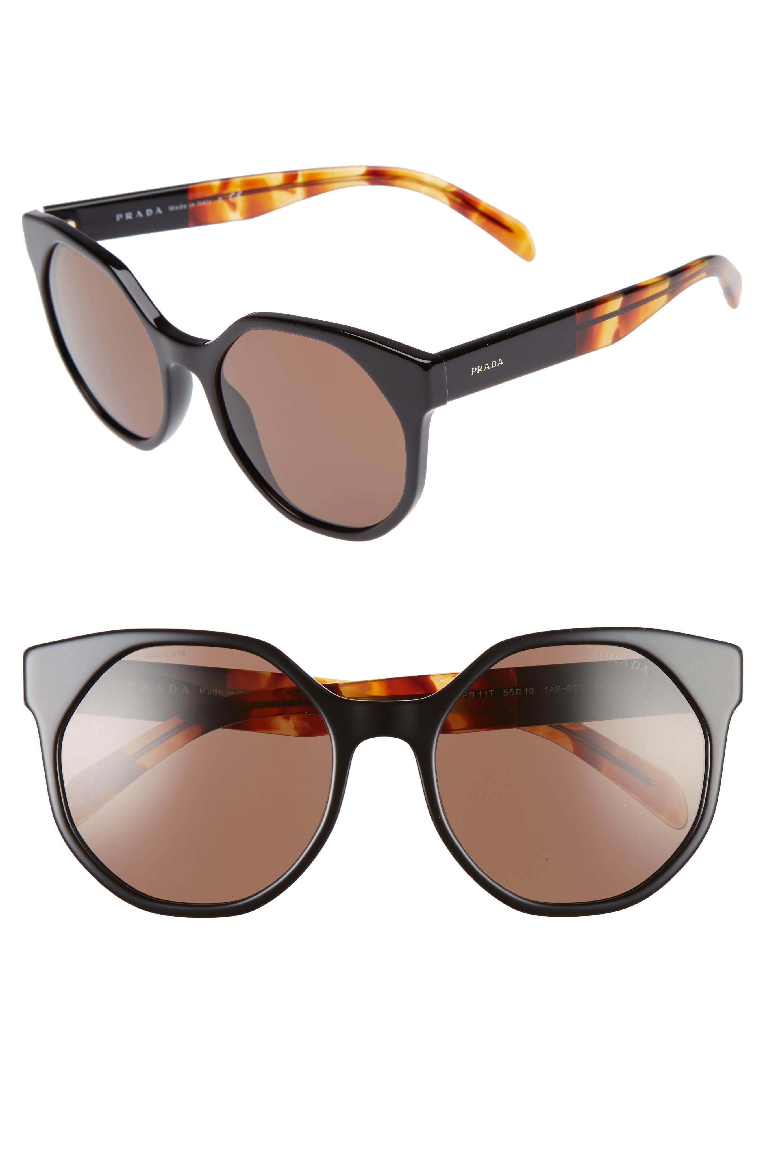 Prada 55mm Retro Sunglasses