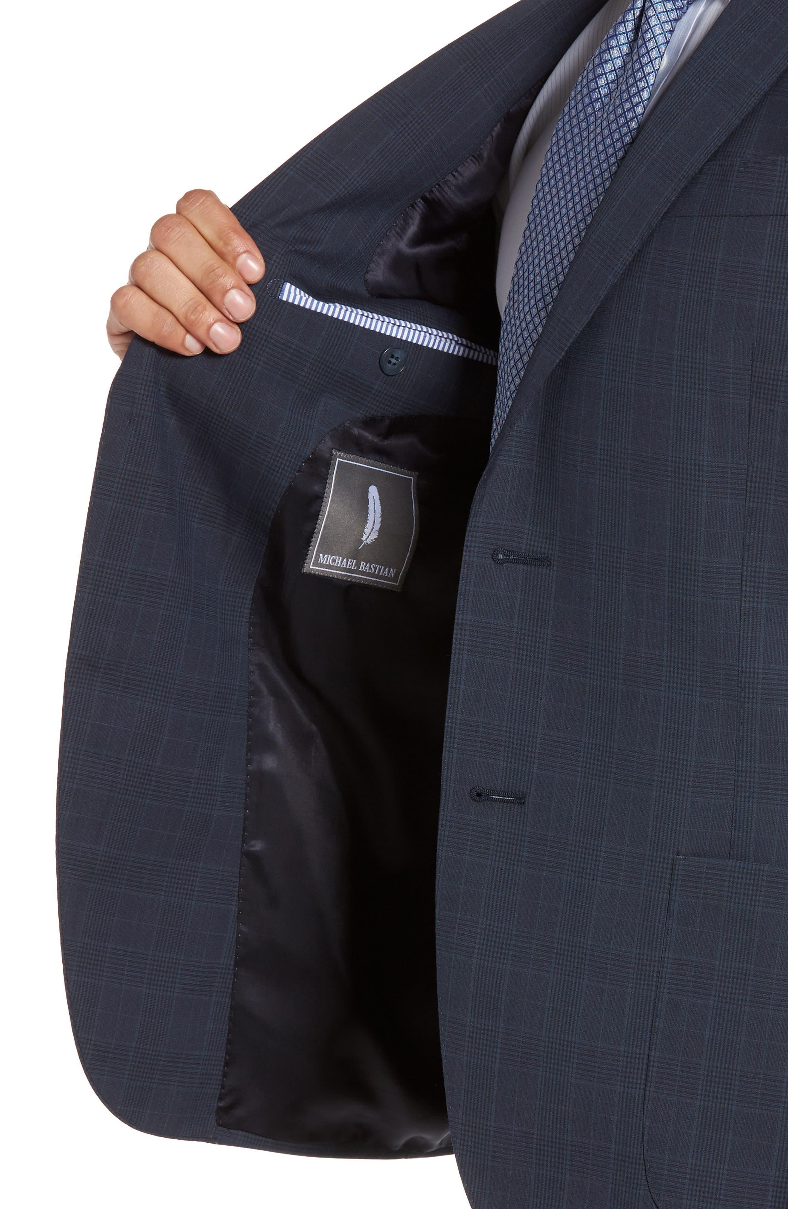 Alternate Image 6  - Michael Bastian Classic Fit Plaid Wool Suit