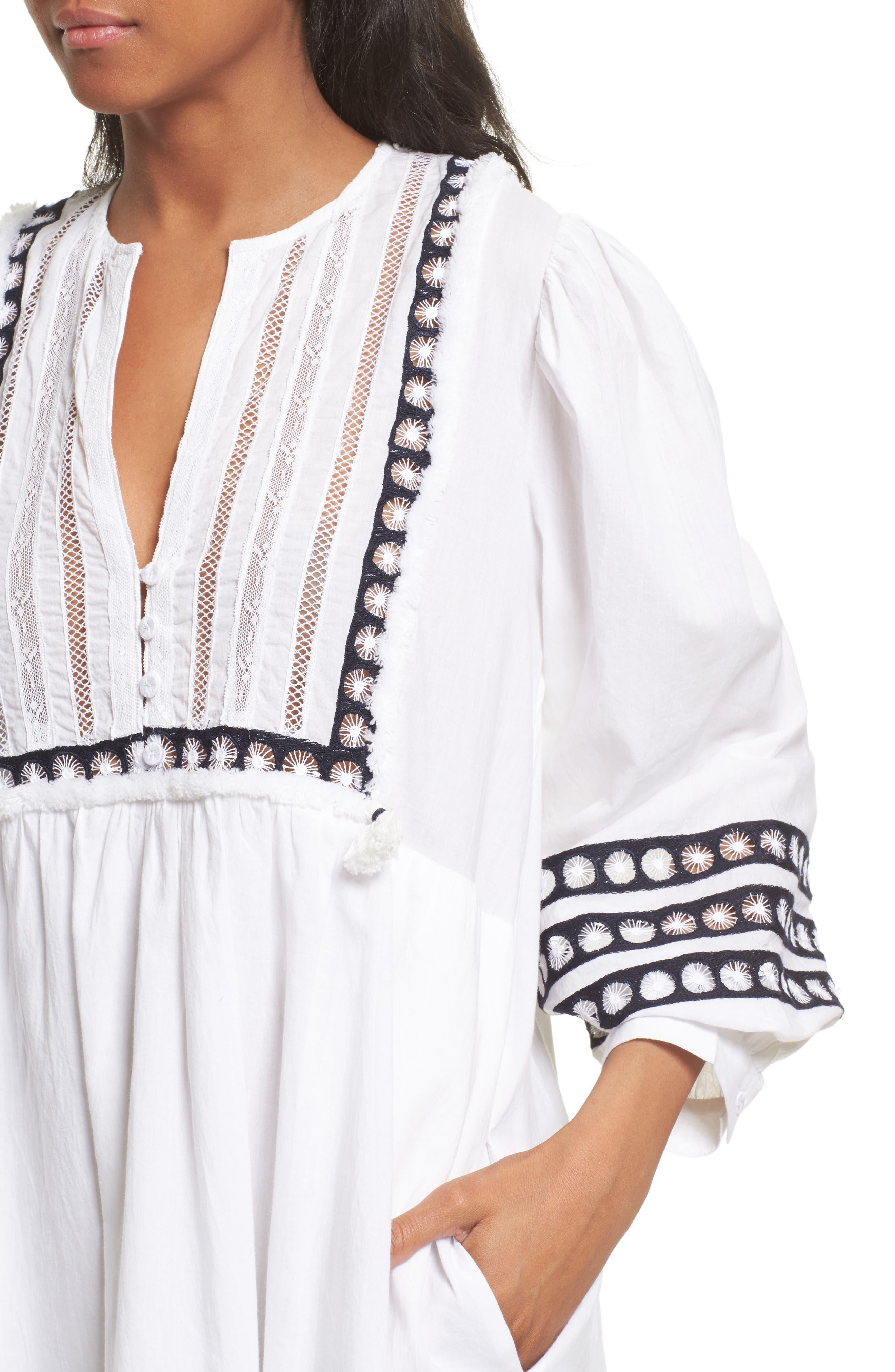 Alternate Image 4  - Sea Lace Bib Dress