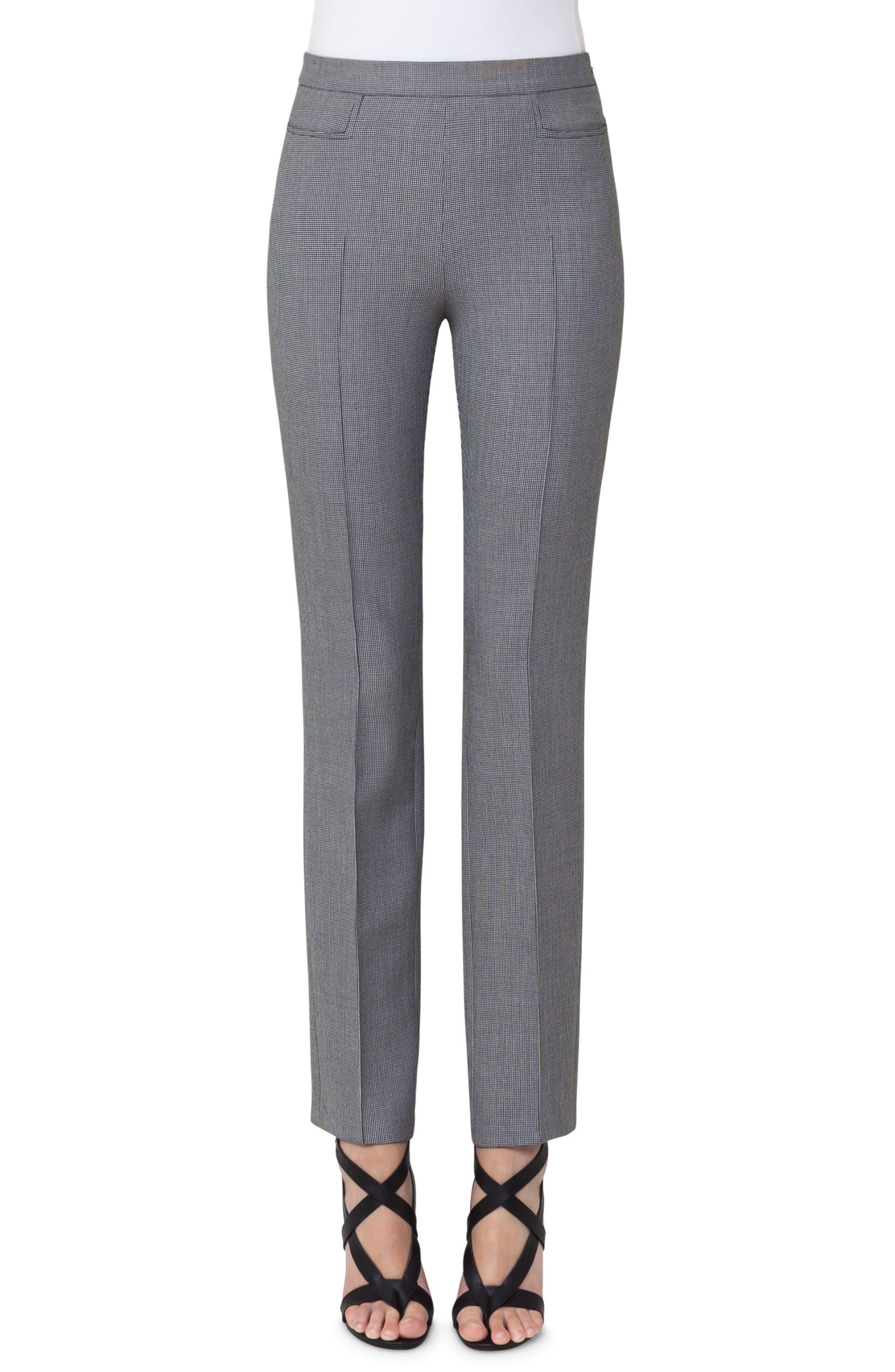 Francoise Mini Houndstooth Jersey Pants,                         Main,                         color, Black/ Cream