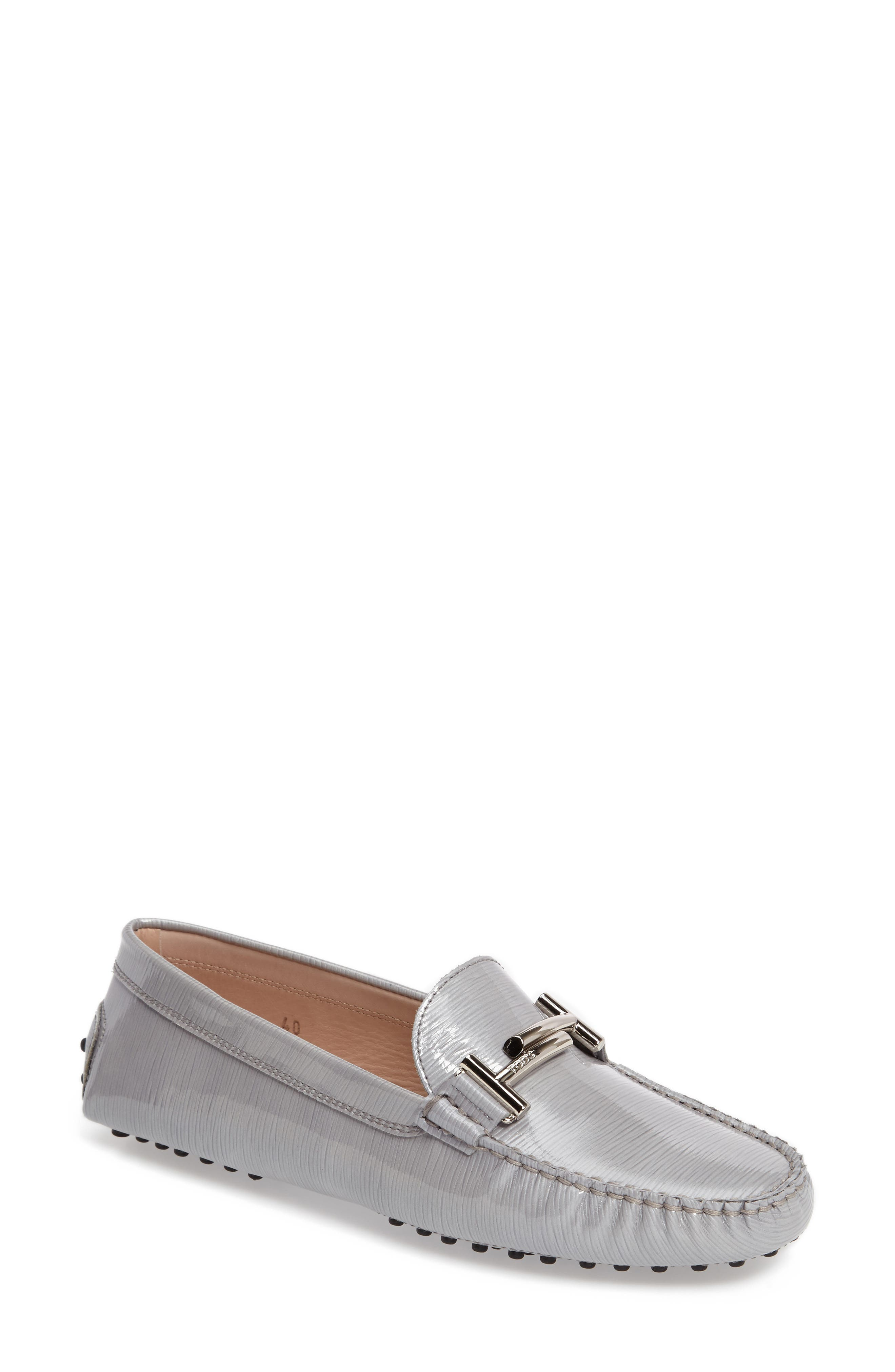 Alternate Image 1 Selected - Tod's Gommino Double-T Striated Driving Shoe (Women)