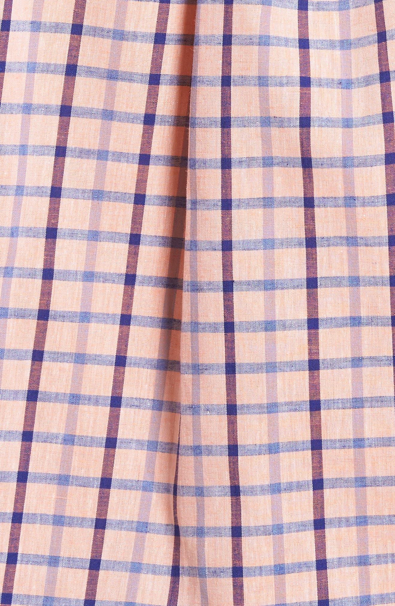 Estate Classic Fit Sport Shirt,                             Alternate thumbnail 5, color,                             Papaya