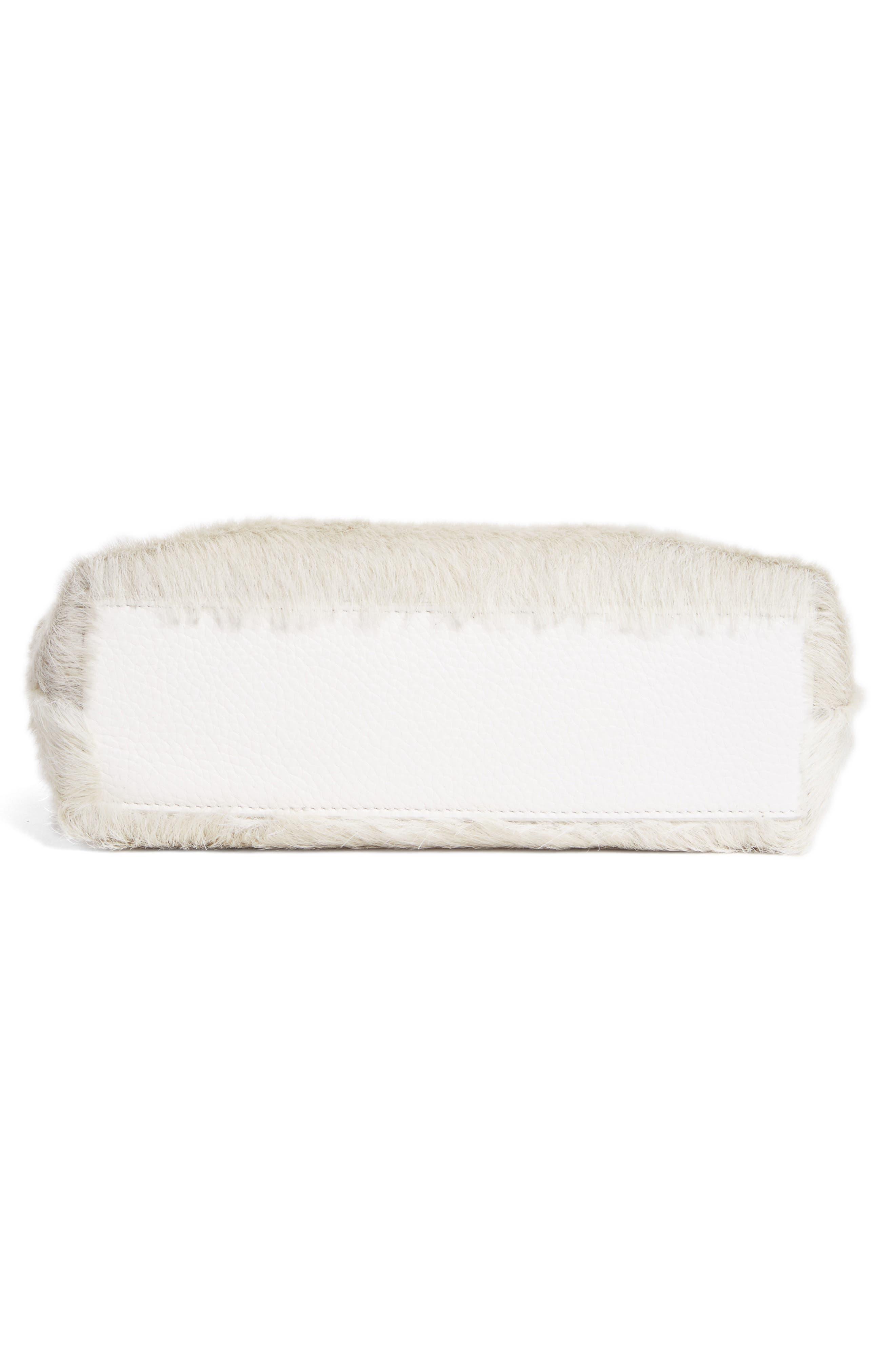Genuine Calf Hair Ring Clutch,                             Alternate thumbnail 5, color,                             Off White