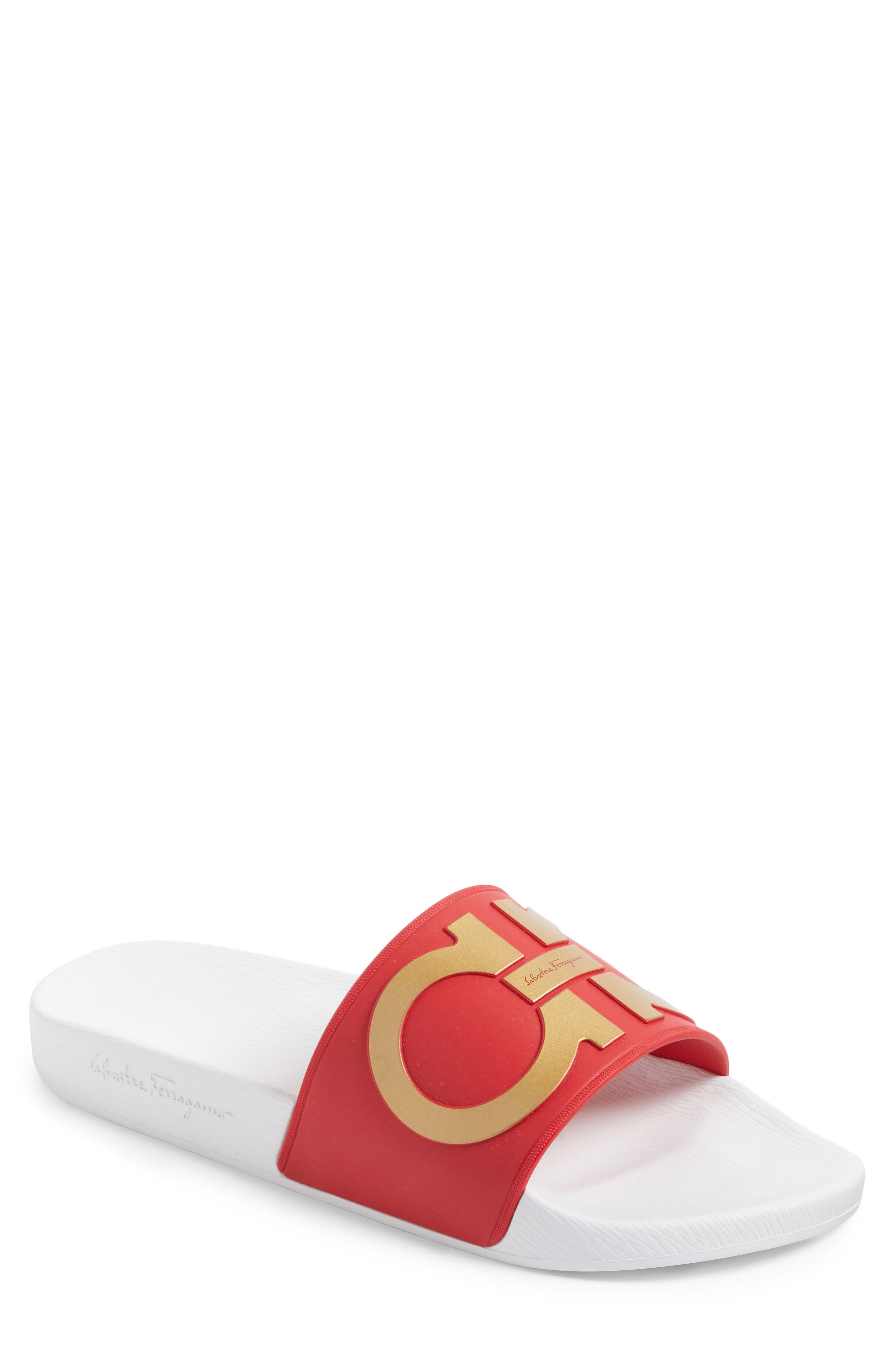 Salvatore Ferragamo 'Groove' Slide Sandal (Men)