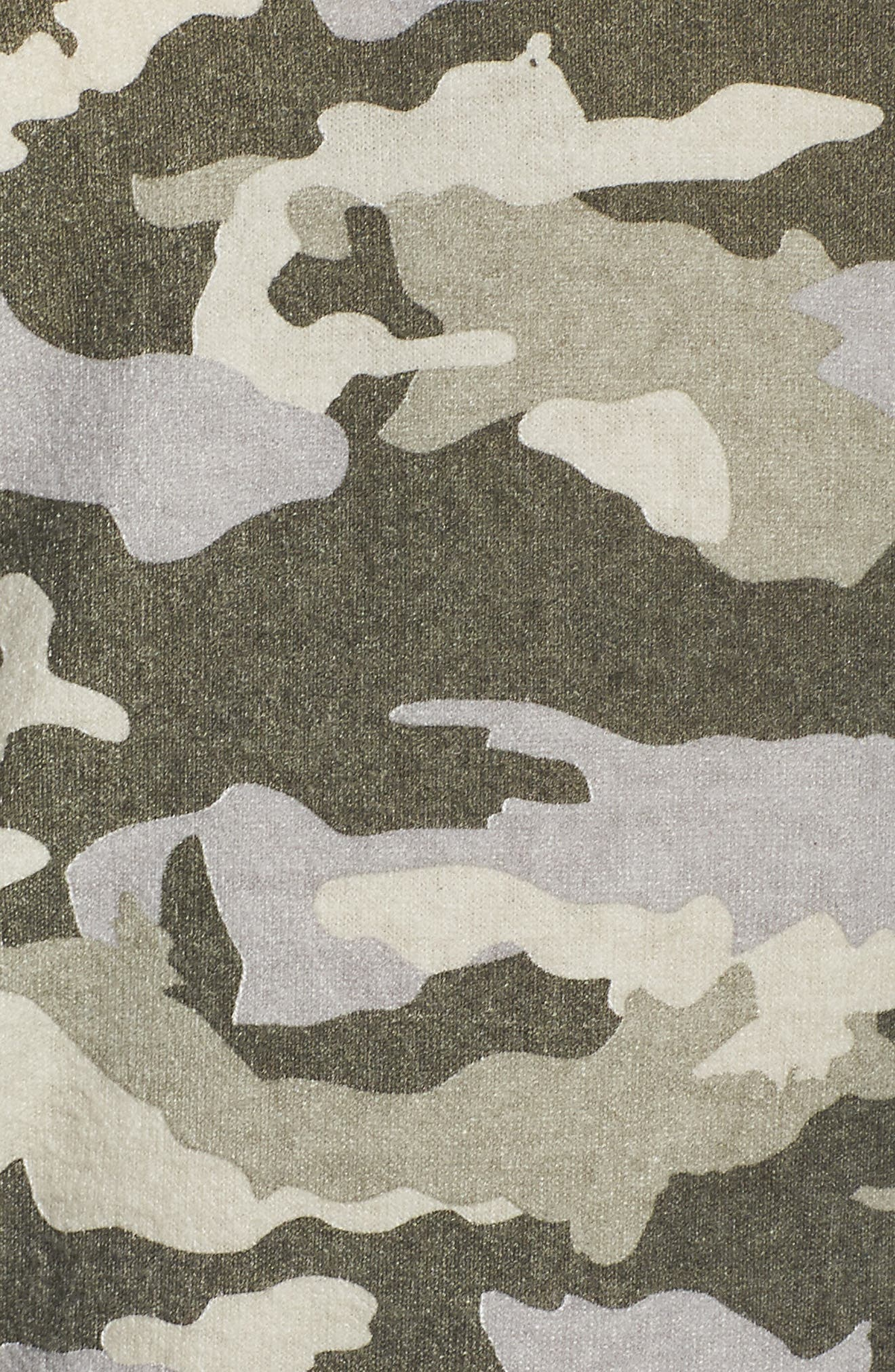 Camo Lounge Sweatshirt,                             Alternate thumbnail 7, color,                             Camo