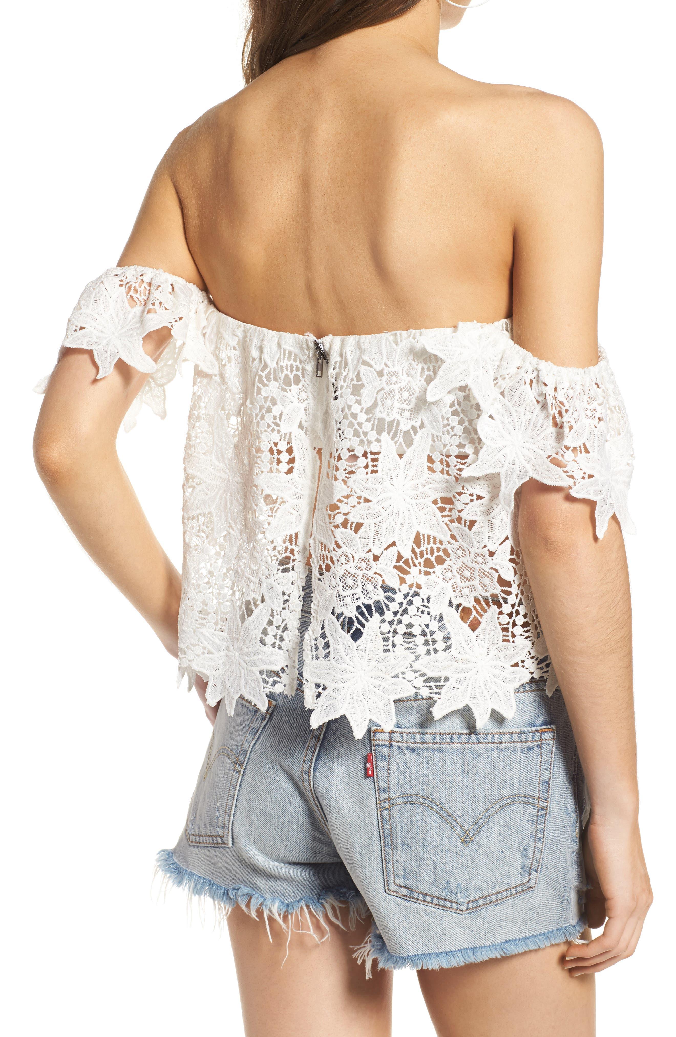 Alternate Image 2  - ASTR the Label Adela Off the Shoulder Lace Top