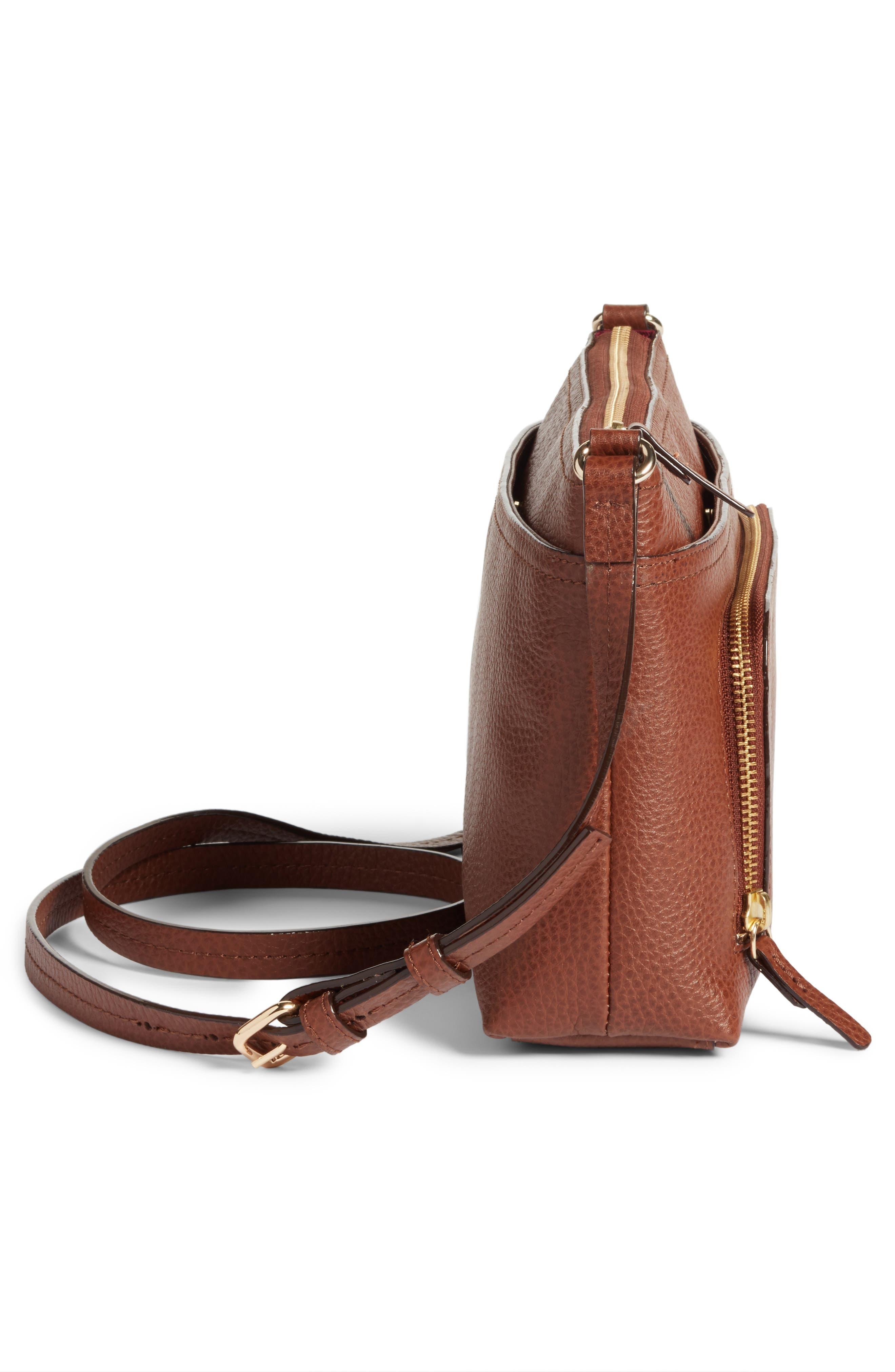 Alternate Image 5  - Nordstrom Pebbled Leather Crossbody Bag