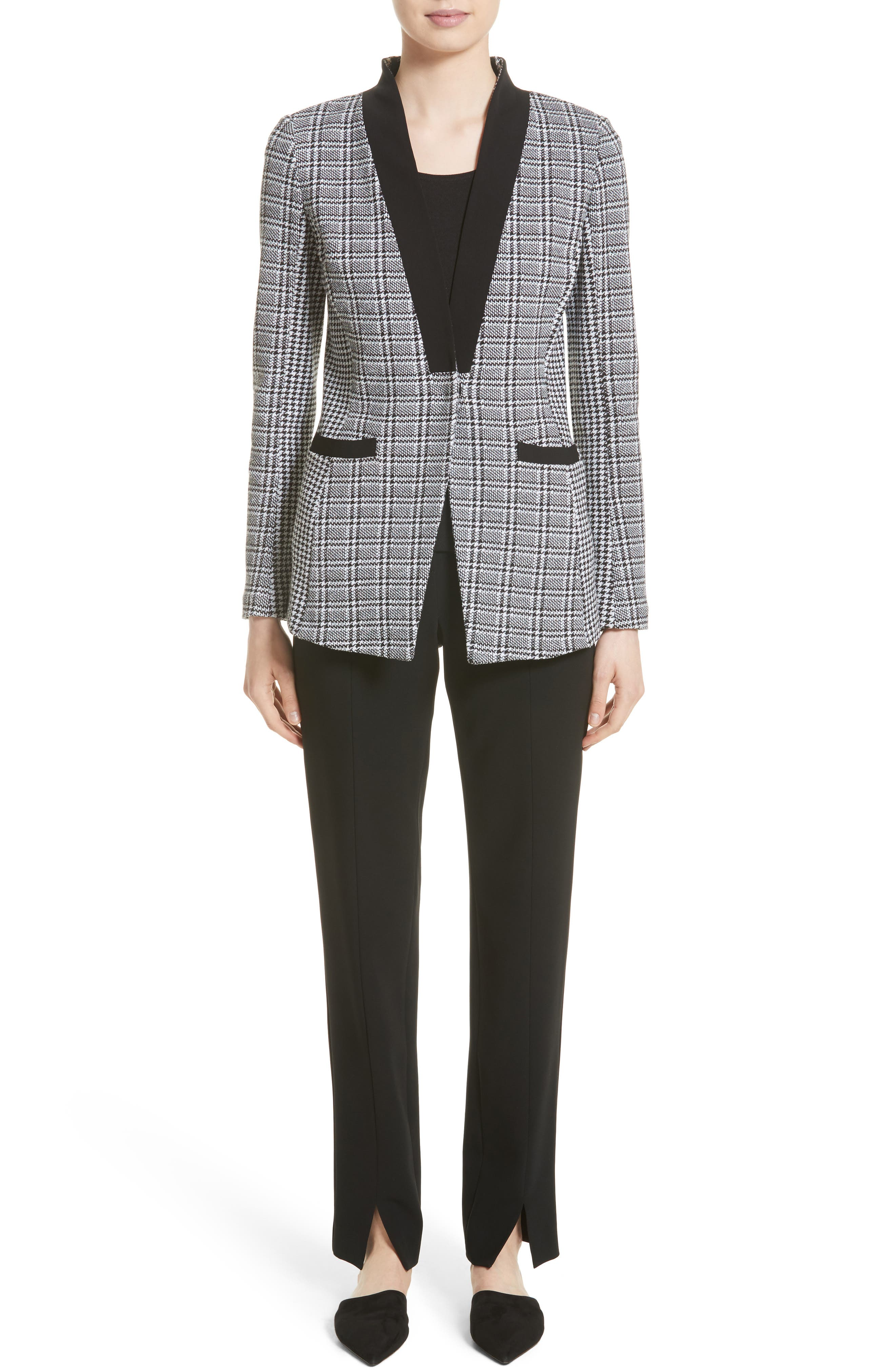 Alternate Image 7  - St. John Collection Mini Houndstooth Plaid Jacket