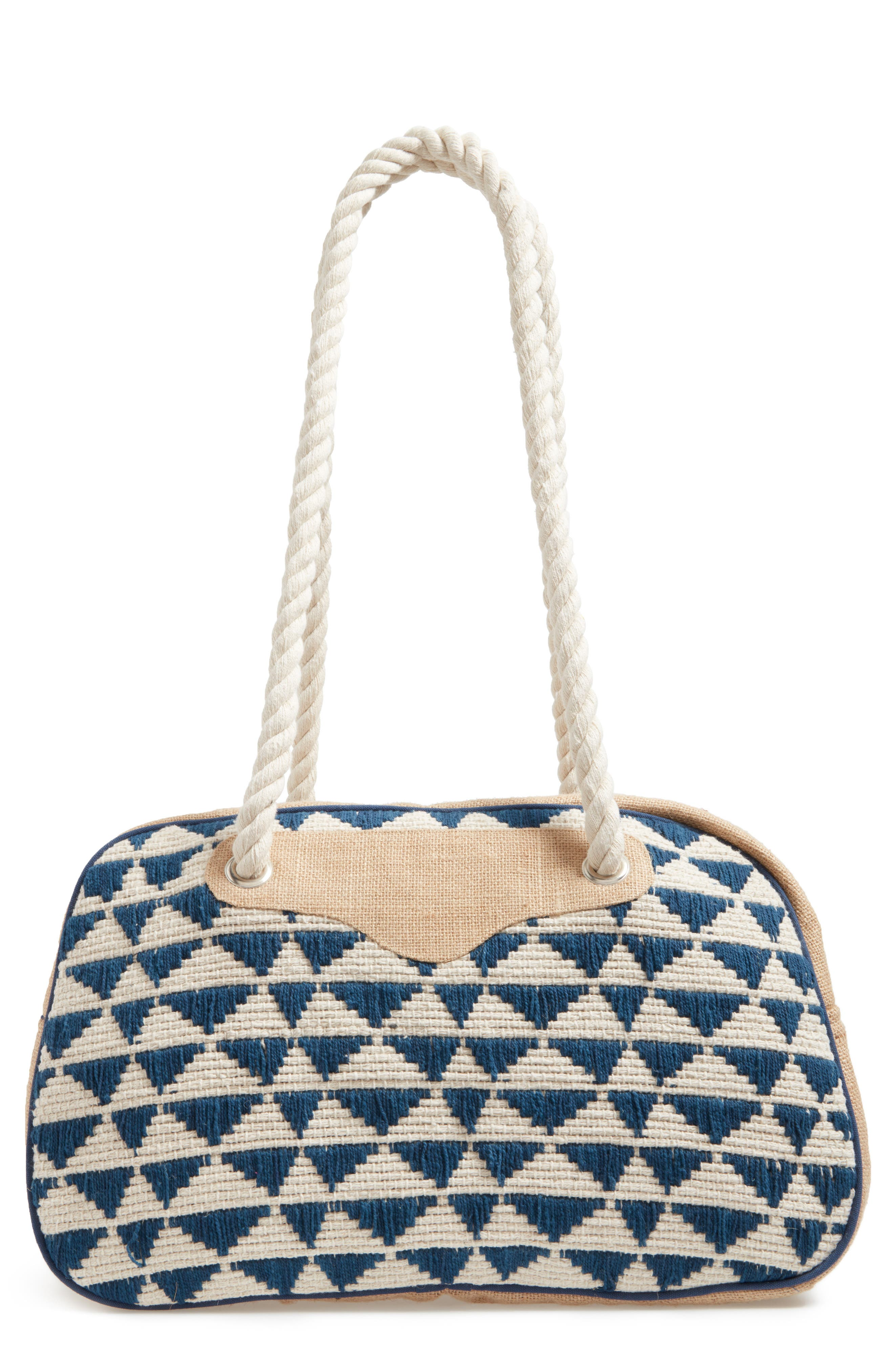 Main Image - Sole Society Getaway Woven Weekend Bag