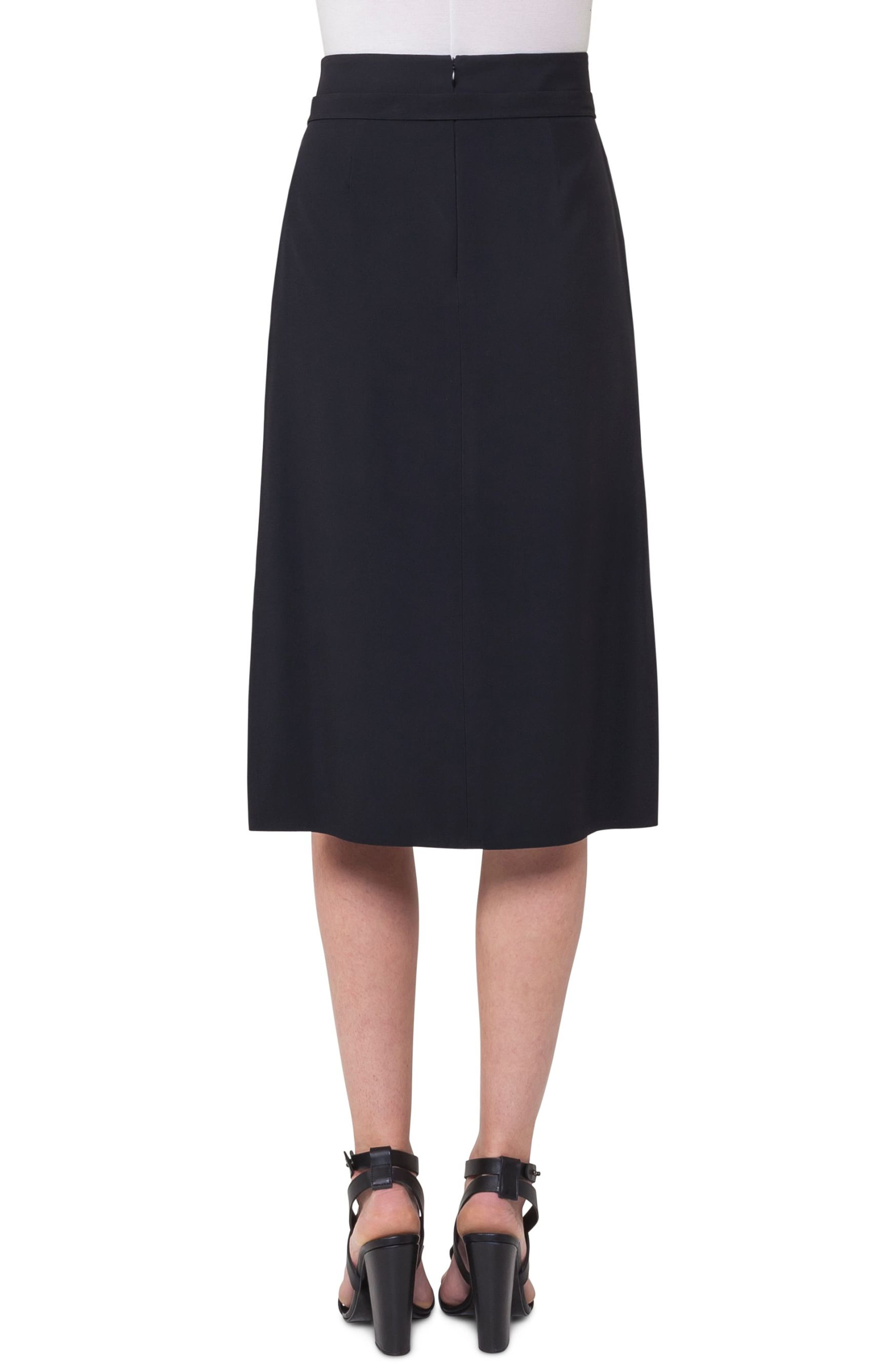 Alternate Image 2  - Akris punto Side Zip Strap Skirt