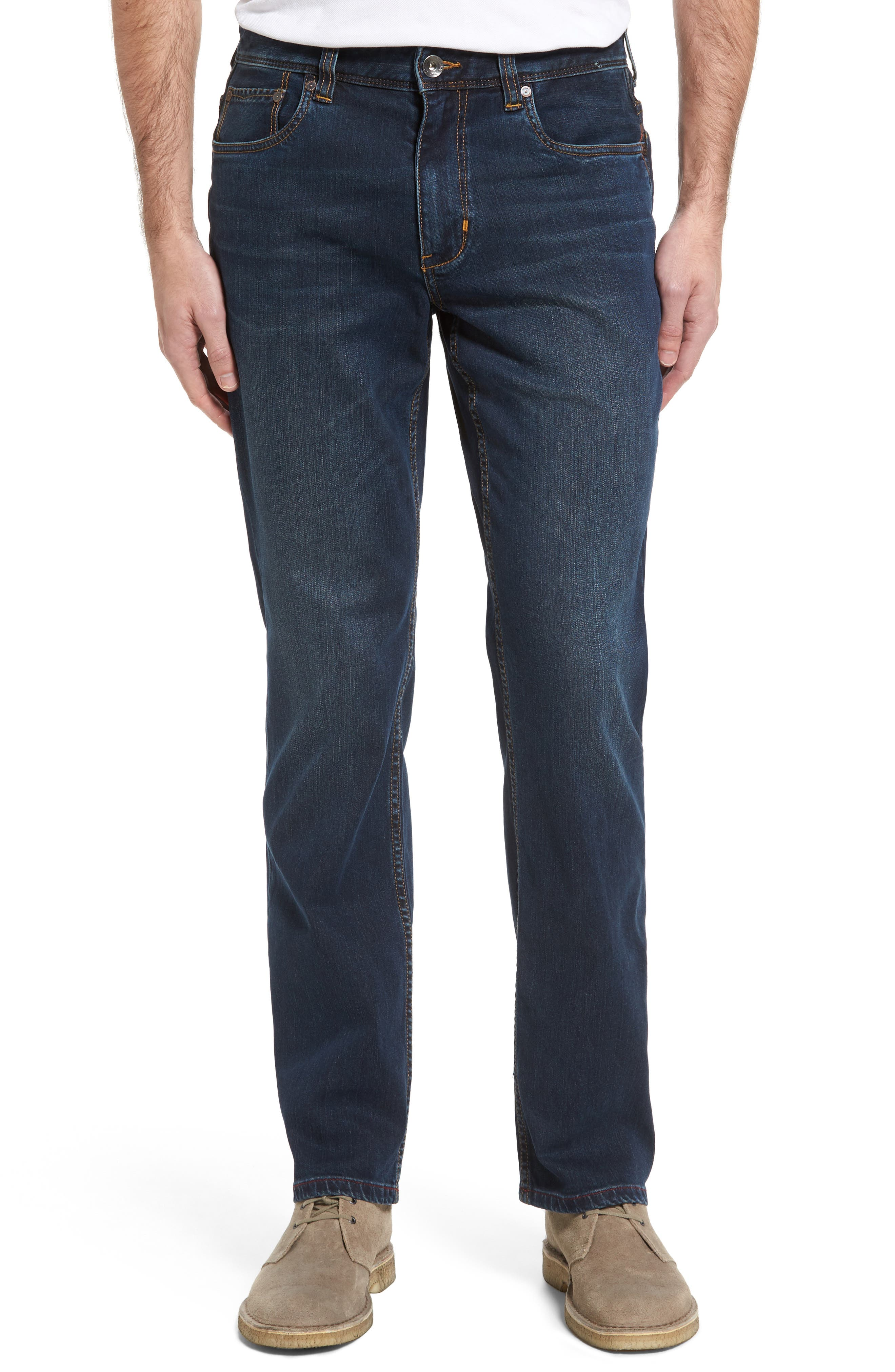 Straight Leg Jeans,                             Main thumbnail 1, color,                             Vintage Dark Wash