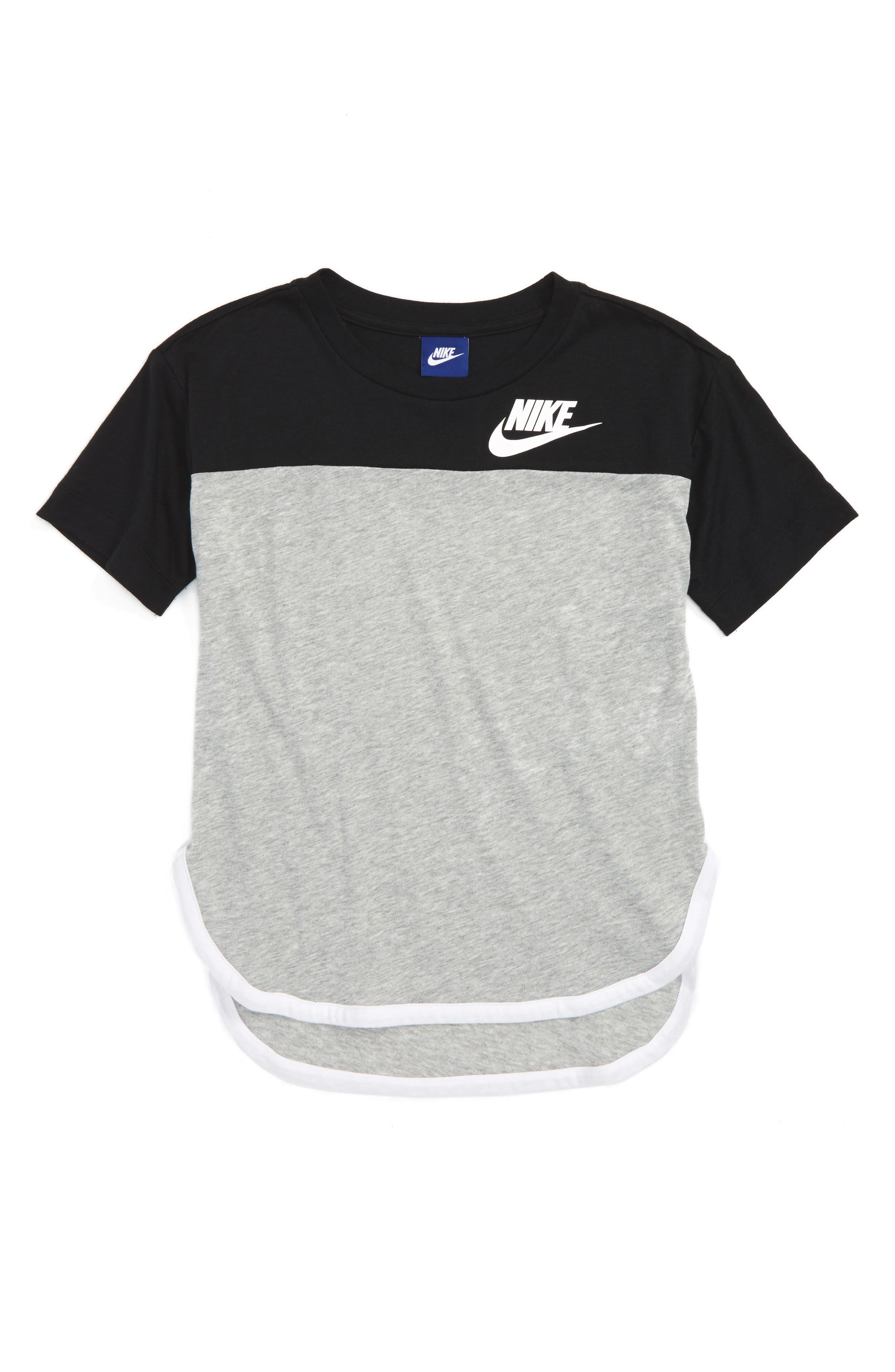 Sportswear Graphic Tee,                         Main,                         color, Black/ Dk Grey Heather/ White