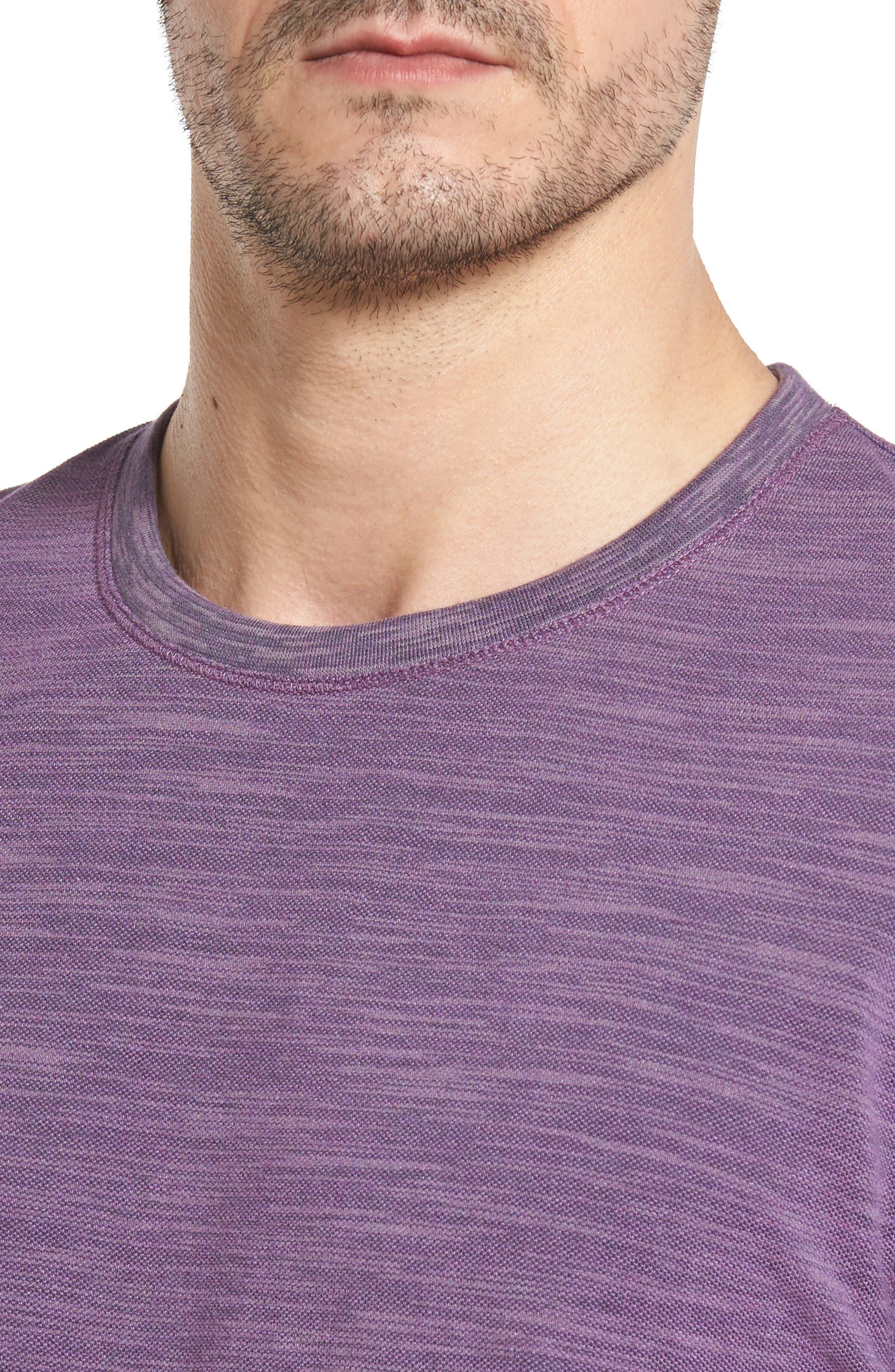 Paxton Space Dye Piqué T-Shirt,                             Alternate thumbnail 4, color,                             Purple
