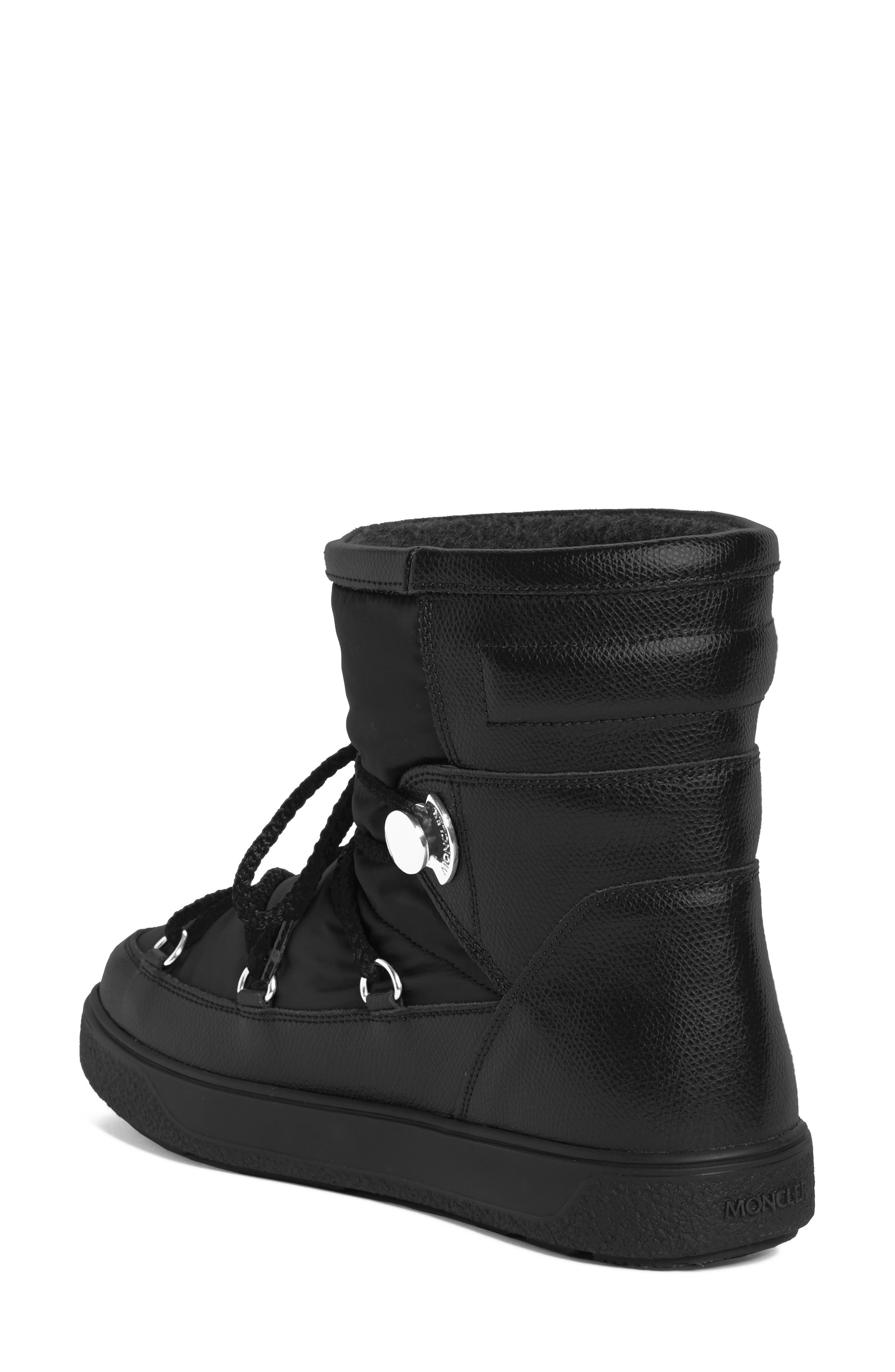 New Fanny Stivale Short Moon Boots,                             Alternate thumbnail 2, color,                             Black