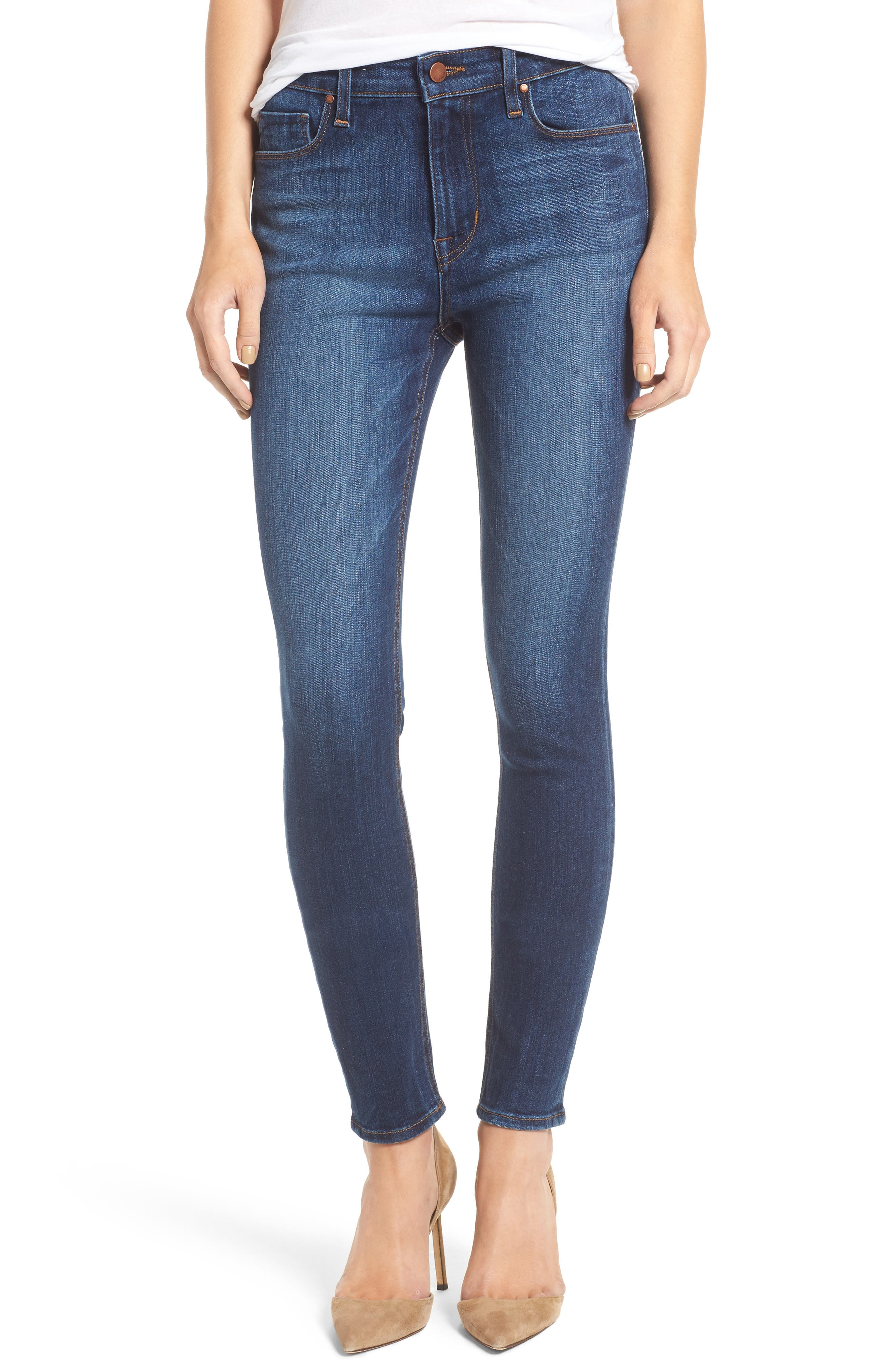 Alternate Image 1 Selected - Fidelity Denim Gwen High Waist Skinny Jeans (Liverpool)