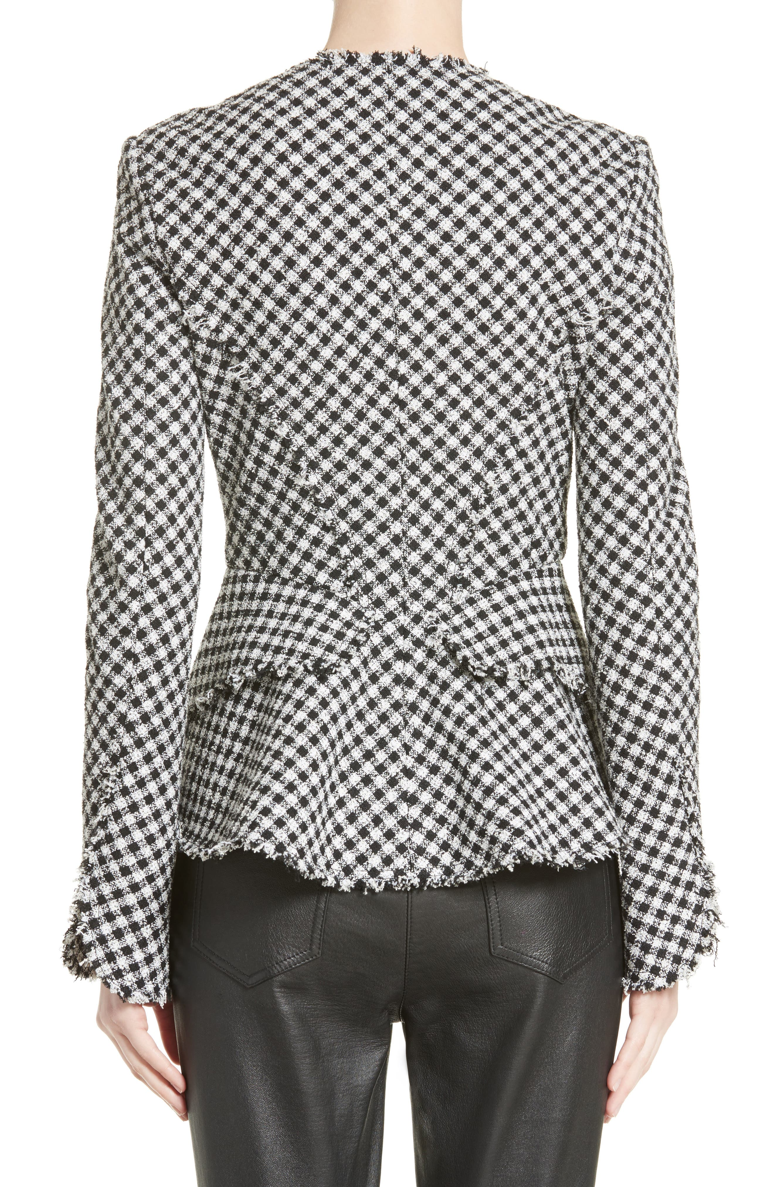 Alternate Image 2  - Alexander Wang Check Tweed Peplum Jacket