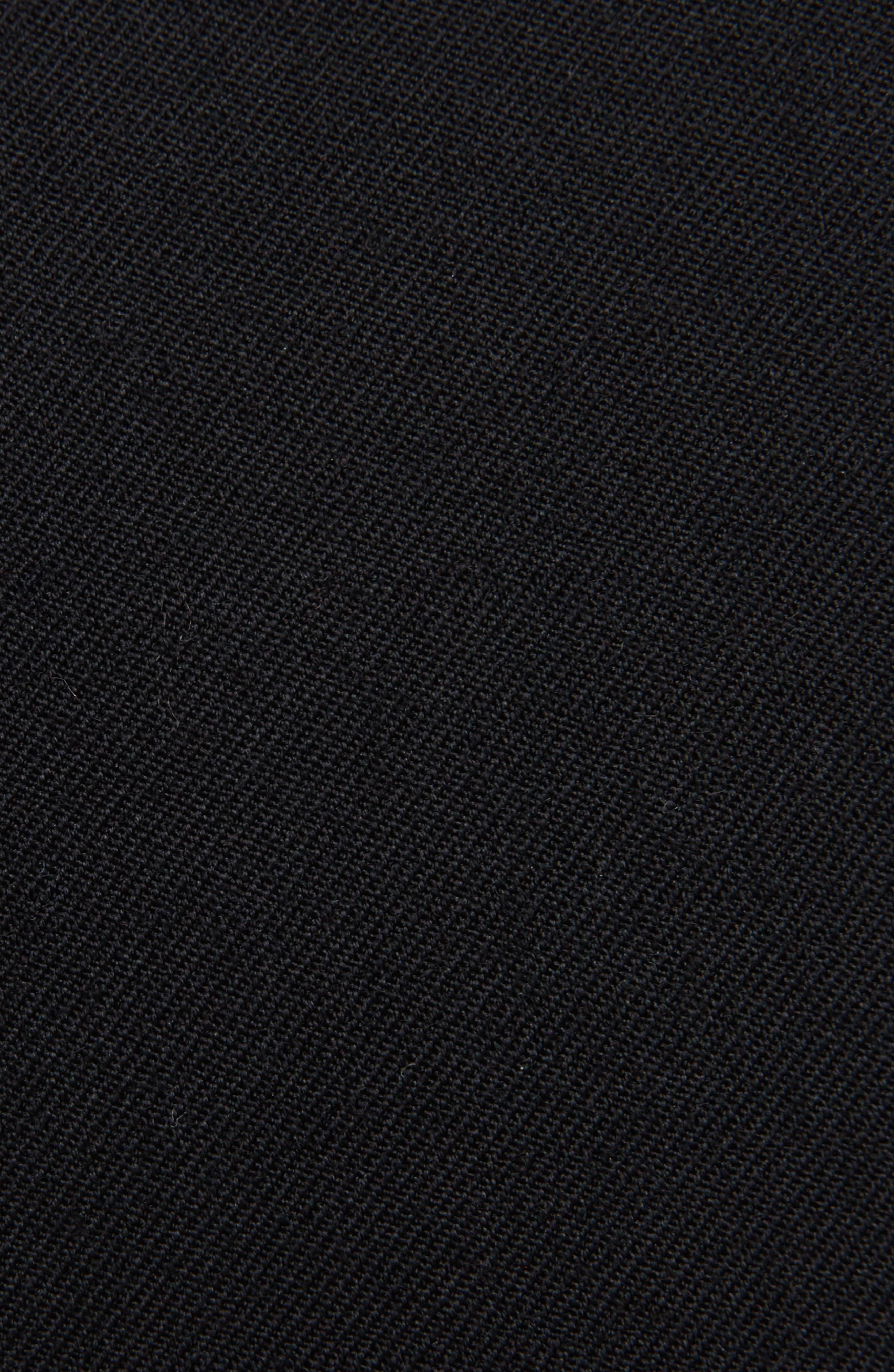 K Bottom Pleated Dress,                             Alternate thumbnail 3, color,                             Black