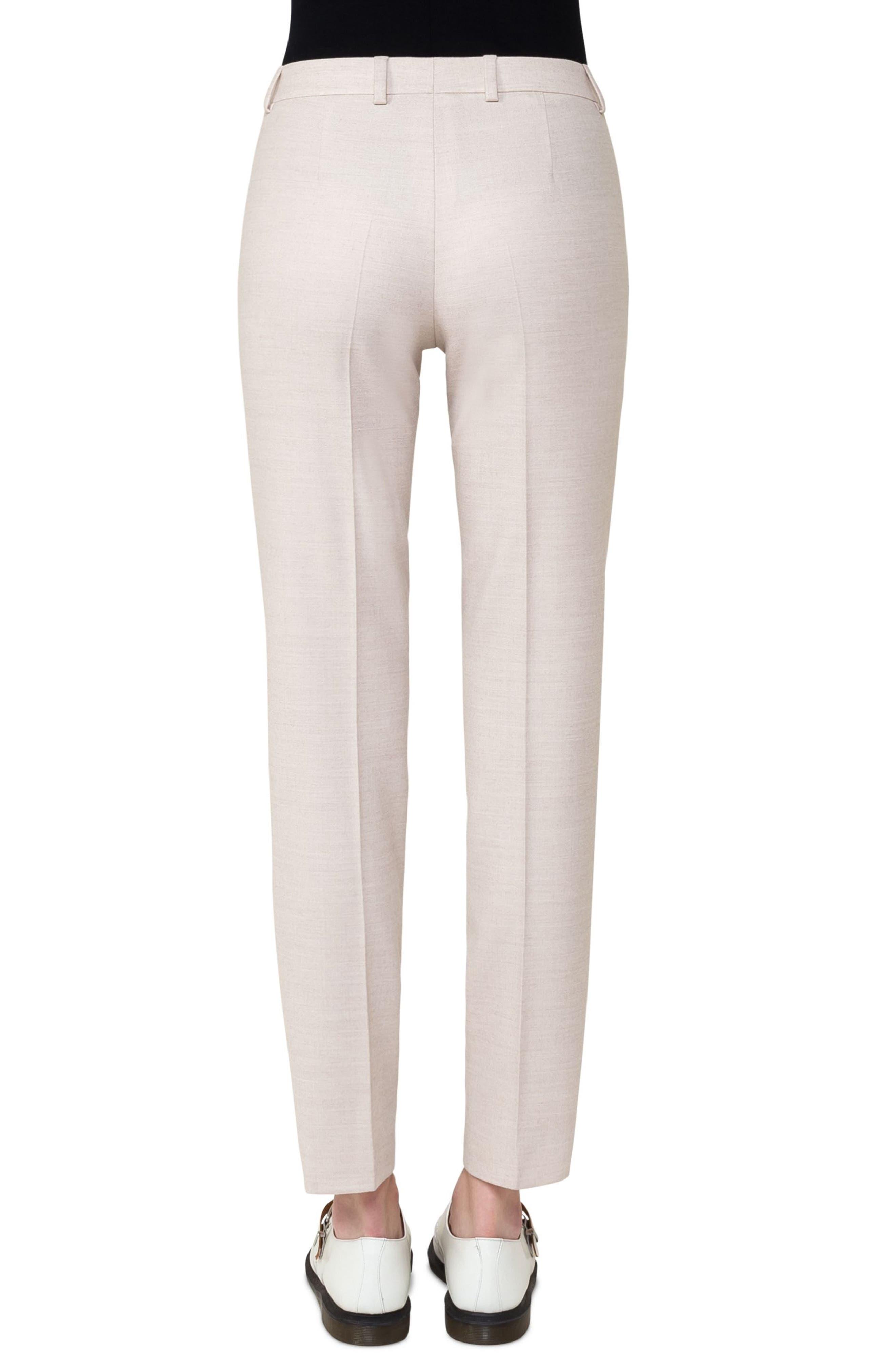 Stretch Wool Flannel Slim Pants,                             Alternate thumbnail 2, color,                             Shore