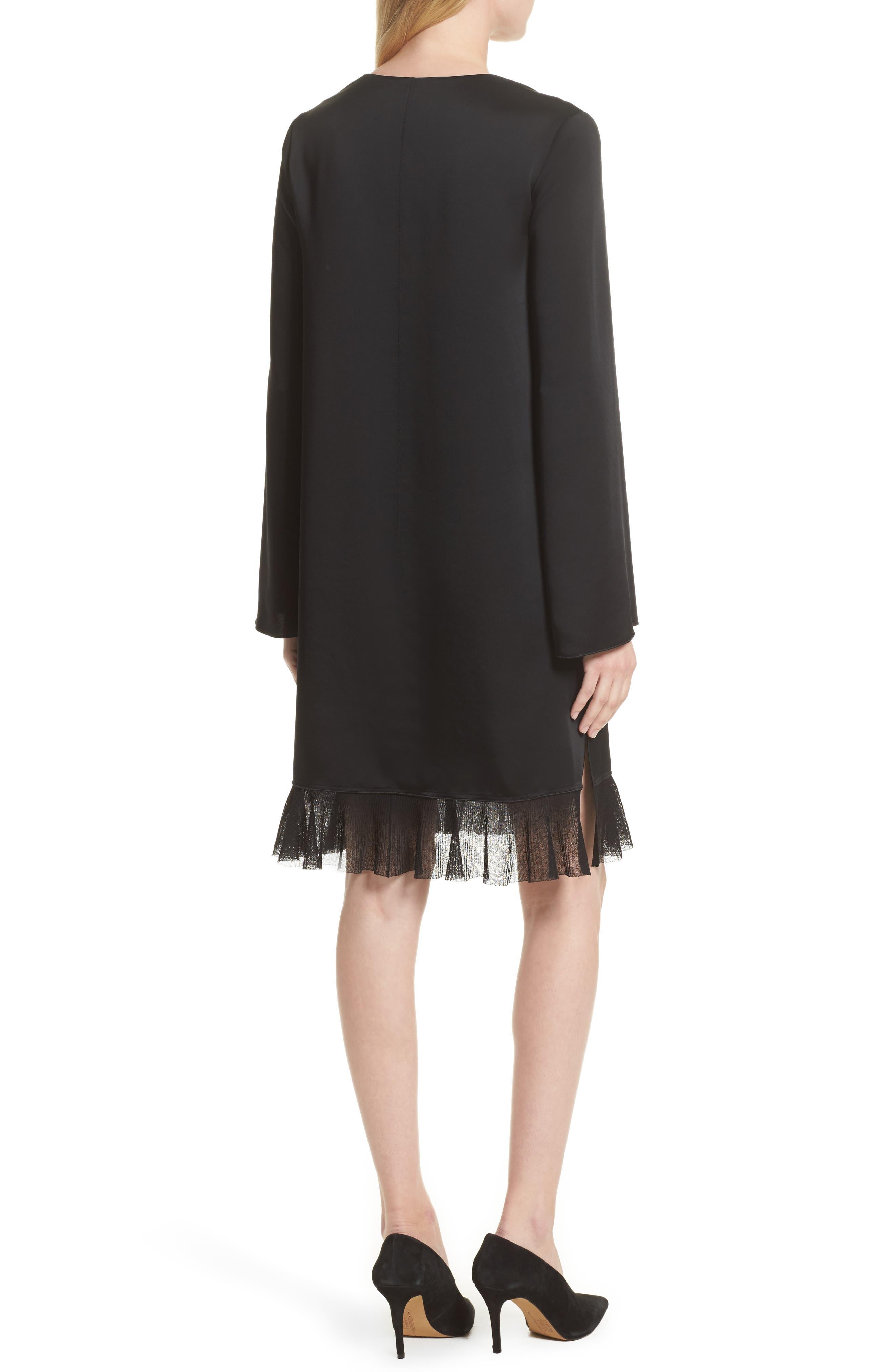 Heath Shift Dress,                             Alternate thumbnail 2, color,                             Black
