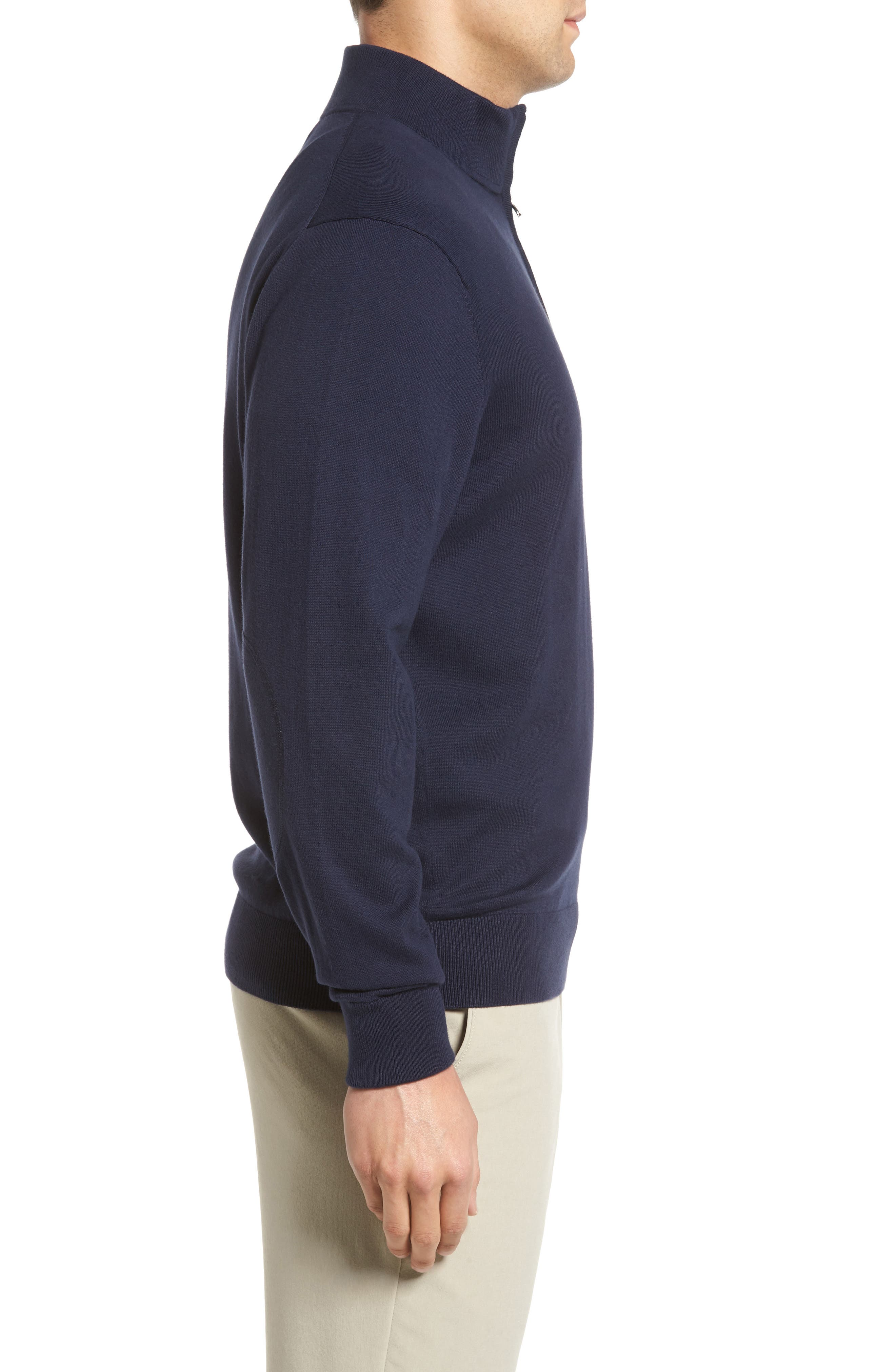 Lakemont Half Zip Sweater,                             Alternate thumbnail 3, color,                             Liberty Navy