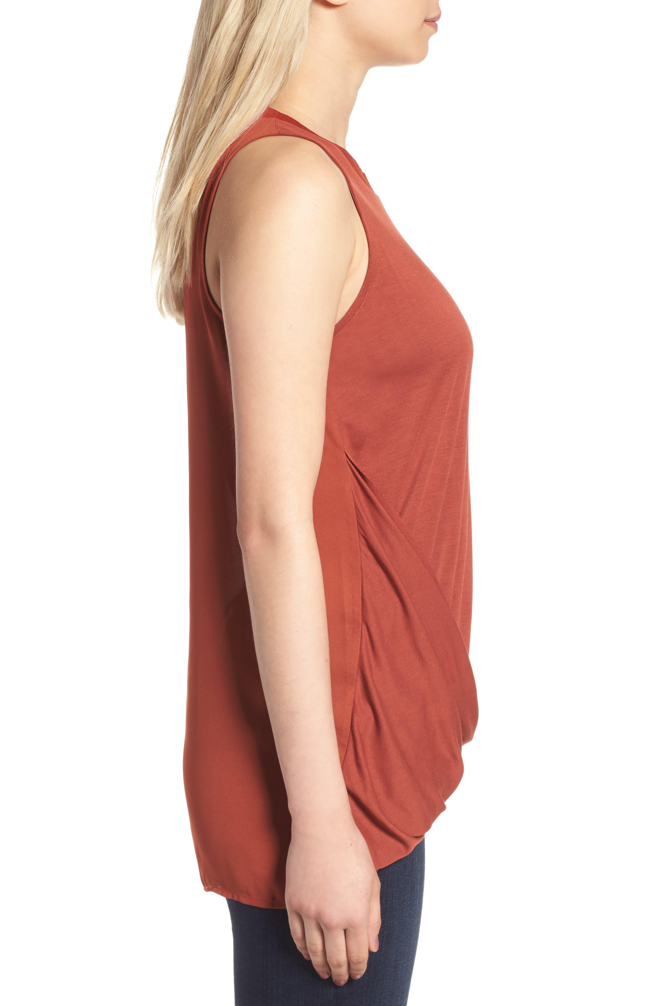 Alternate Image 3  - Trouvé Asymmetrical Drape Knit Top