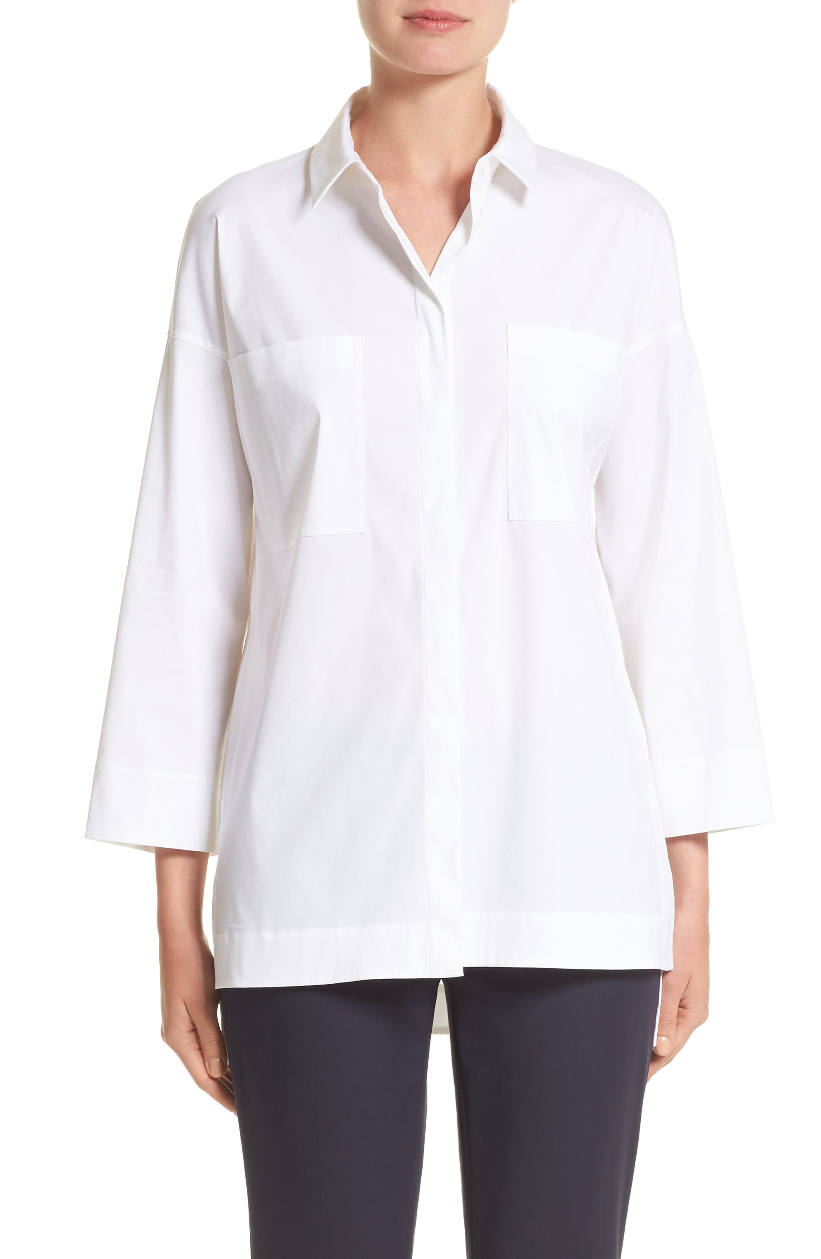 Hensley Blouse,                         Main,                         color, White