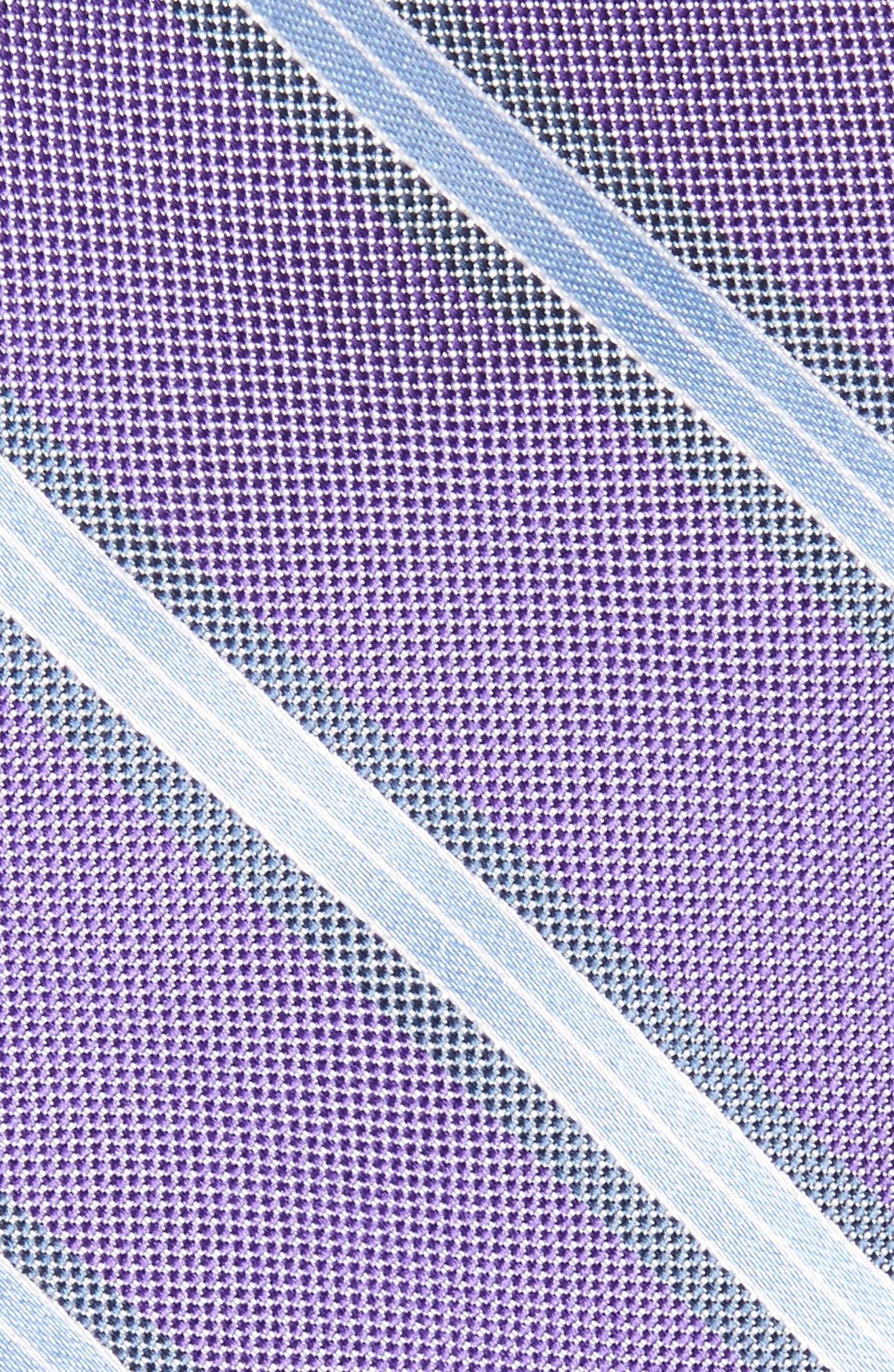 Alternate Image 2  - Nordstrom Men's Shop Stripe Silk Skinny Tie