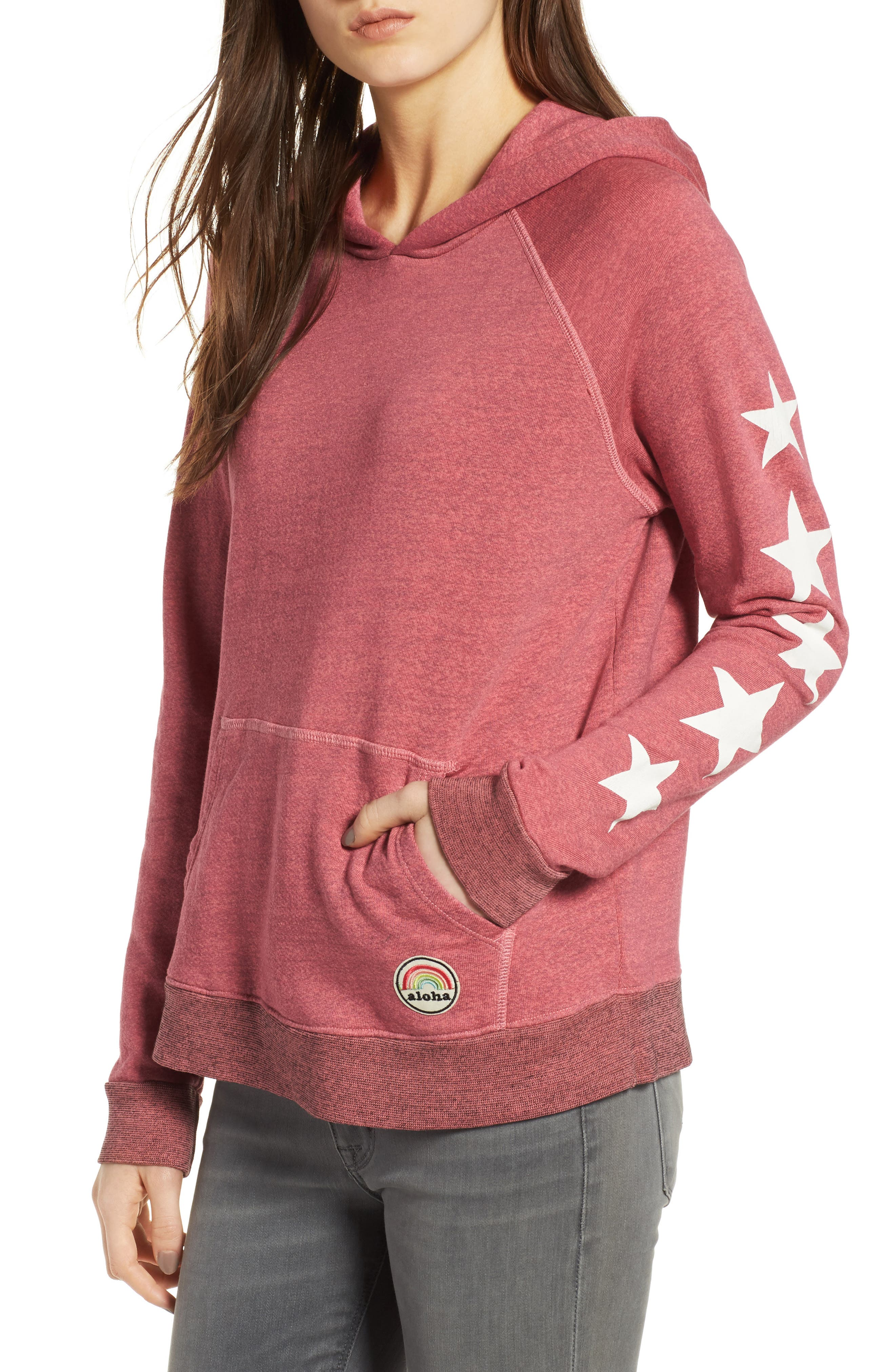 Alternate Image 1 Selected - Sundry Graphic Pullover Hoodie