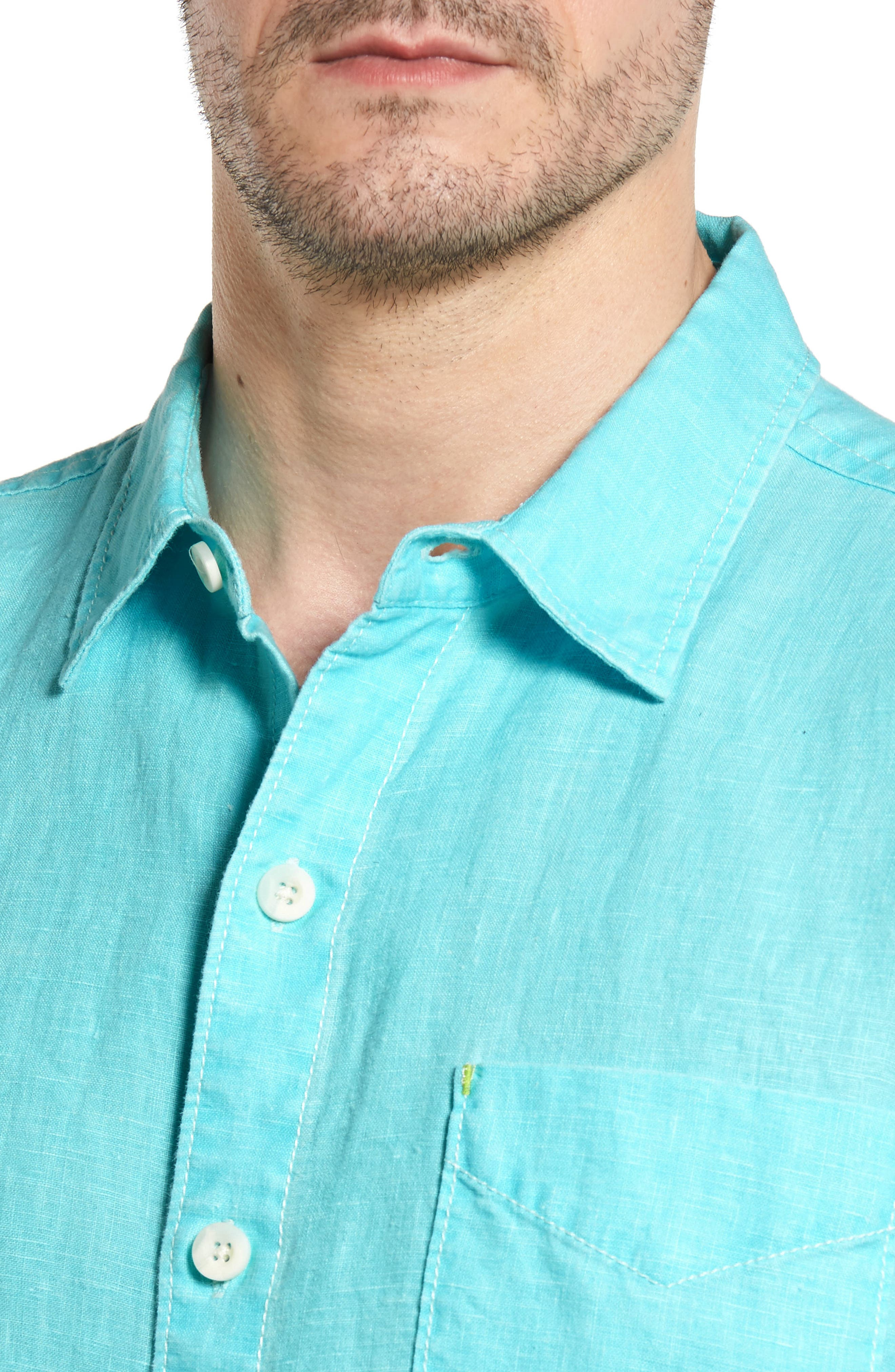 Alternate Image 4  - Tommy Bahama 'Sea Glass Breezer' Original Fit Linen Shirt