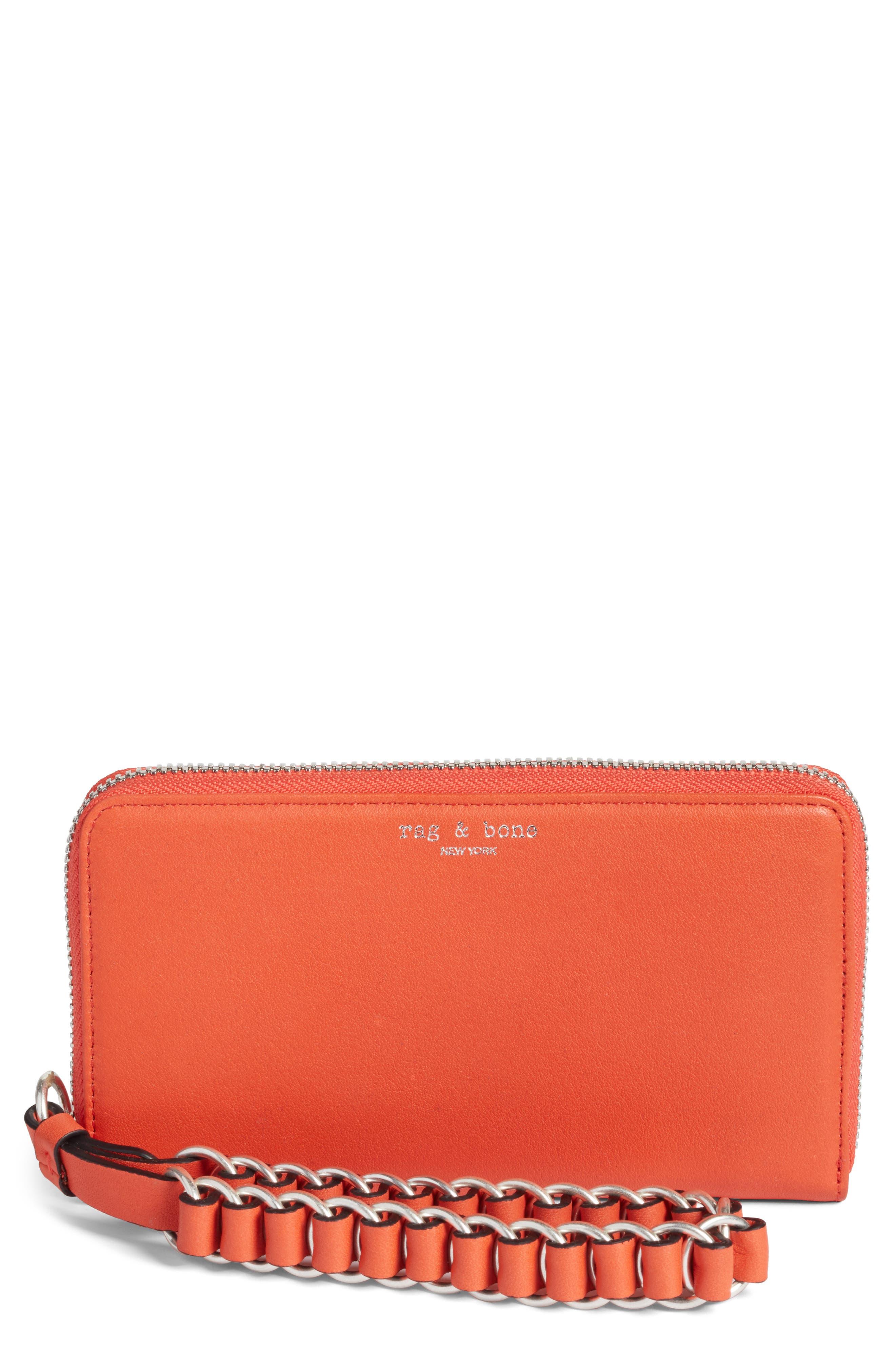 RAG & BONE Devon Zip Leather Smartphone Wallet