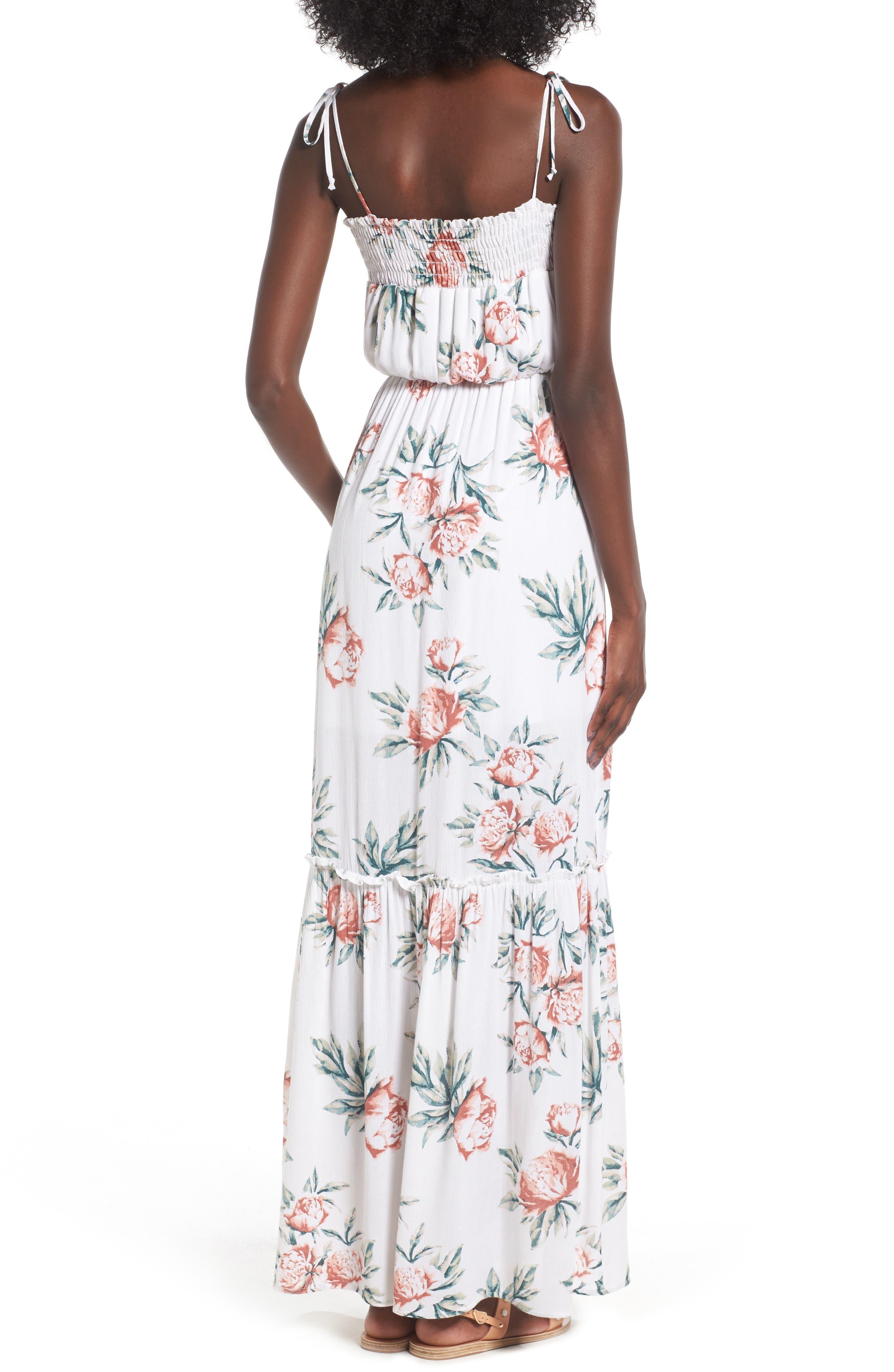 Alternate Image 2  - Dee Elly Floral Print Maxi Dress