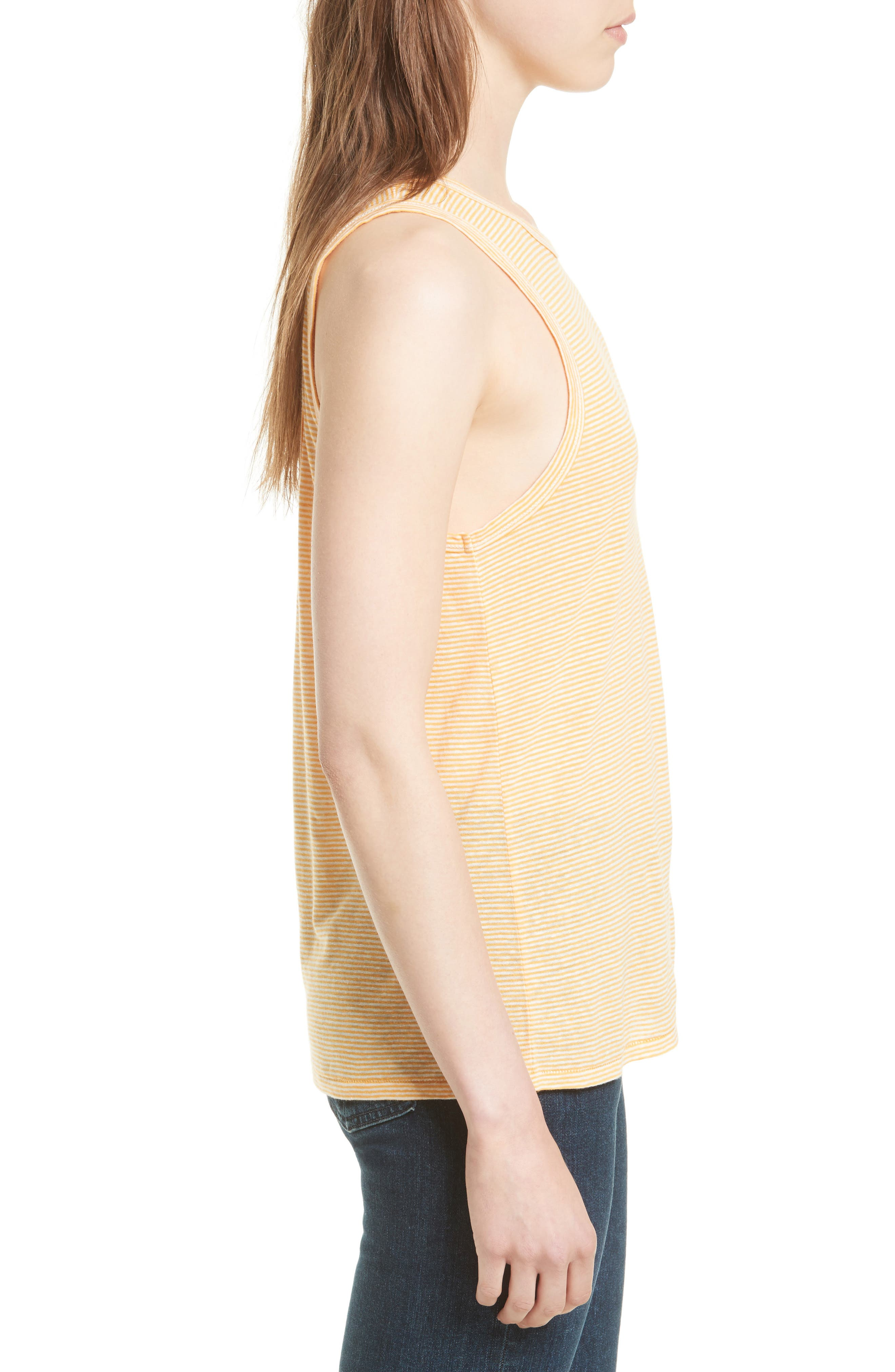 Alternate Image 3  - rag & bone/JEAN Ryder Stripe Linen Blend Tank
