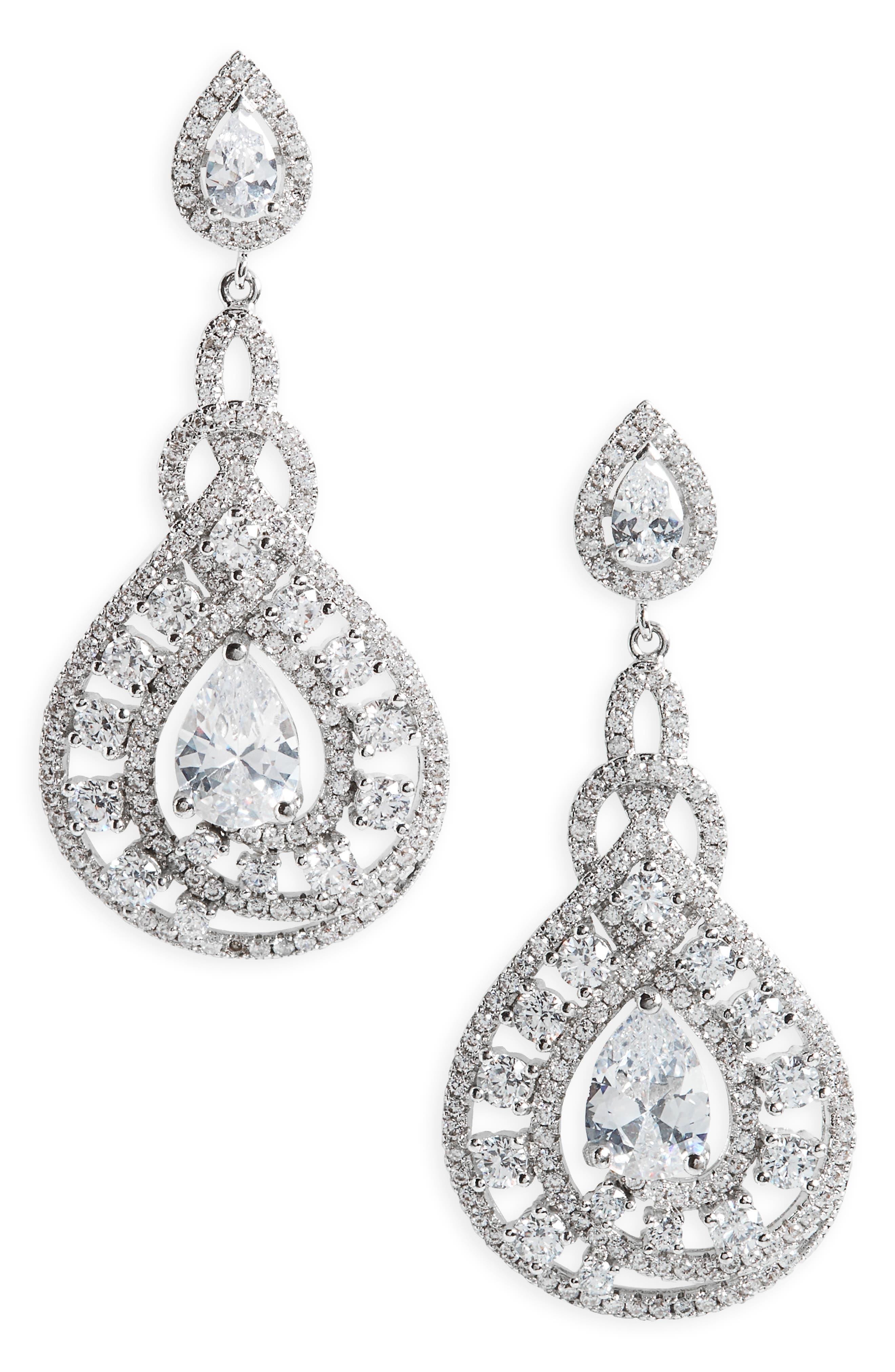 Nina Glamorous Drop Earrings