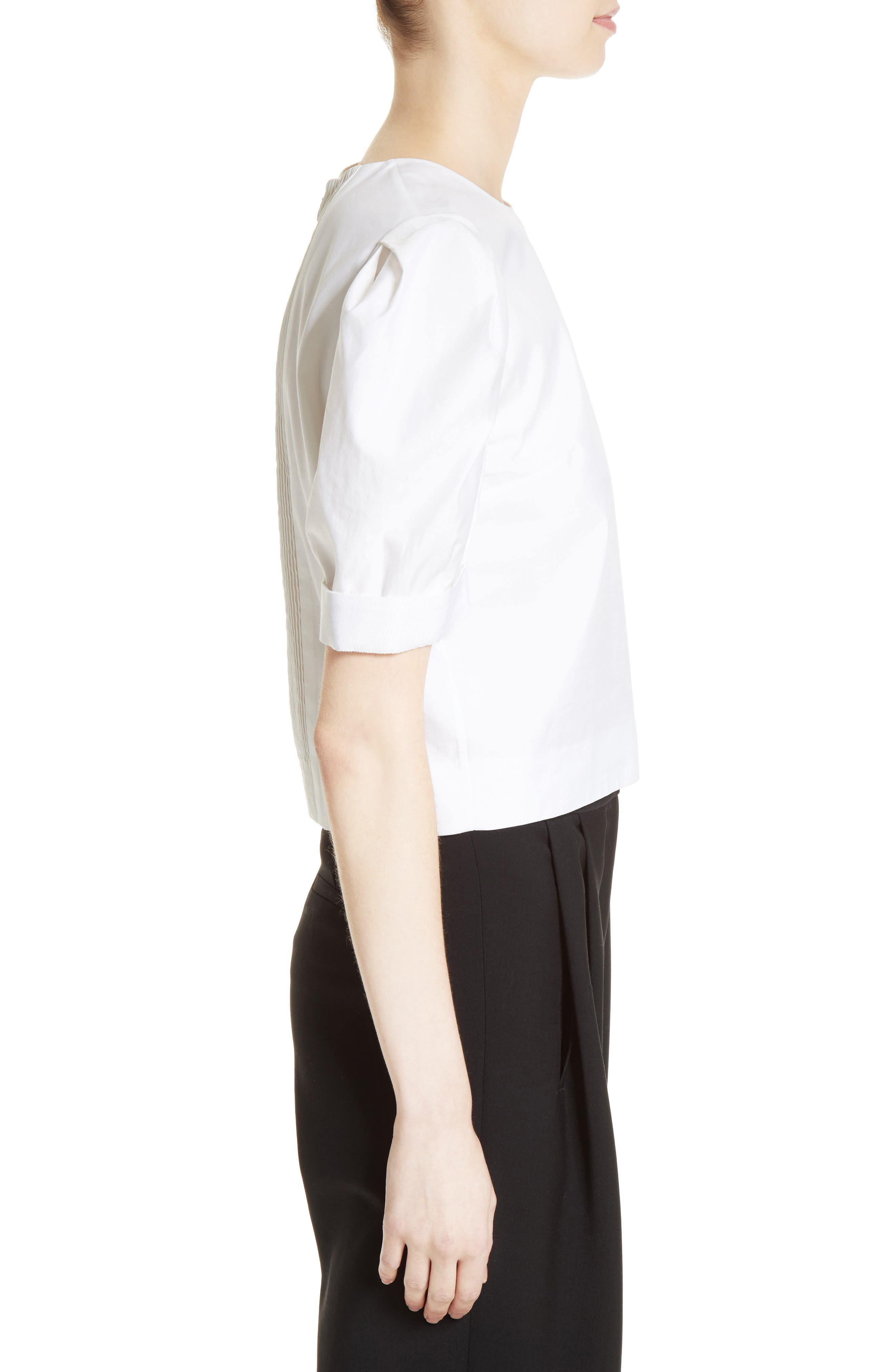 Alternate Image 5  - Adam Lippes Puff Sleeve Cotton Blouse