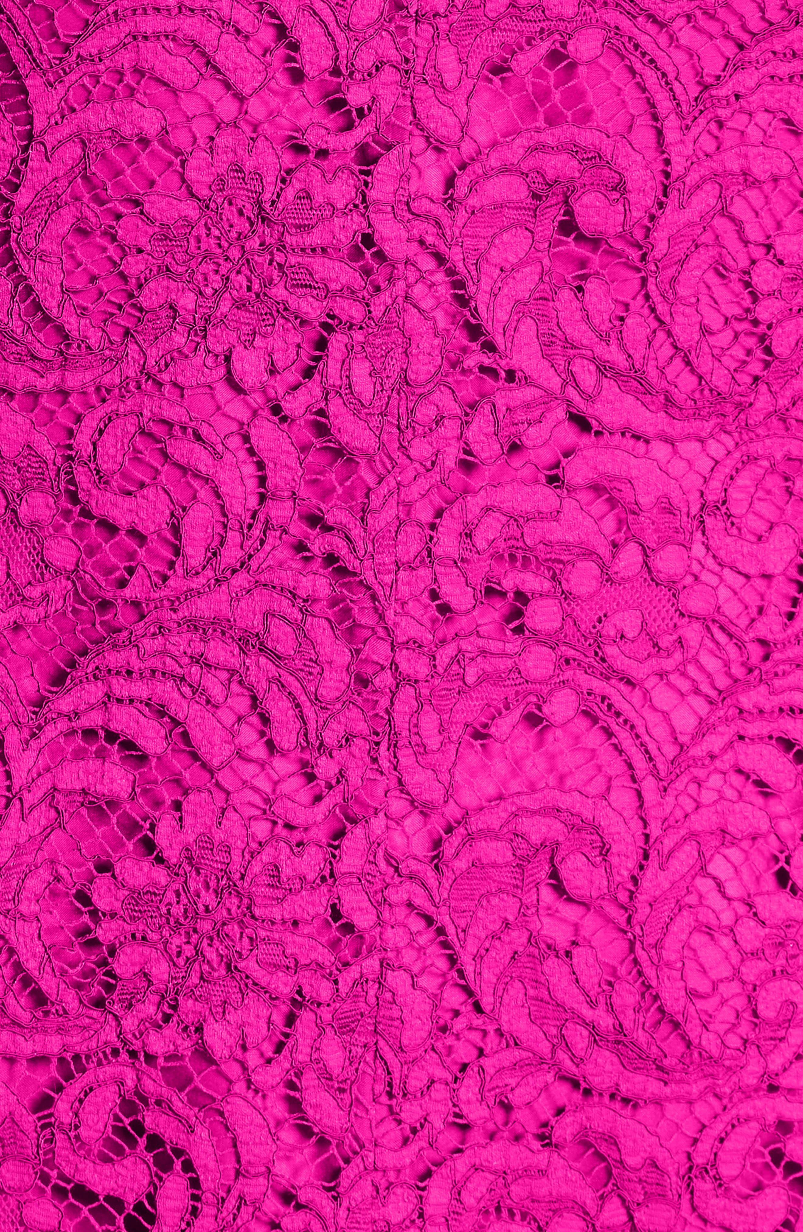 Lace Minidress,                             Alternate thumbnail 3, color,                             Fuchsia
