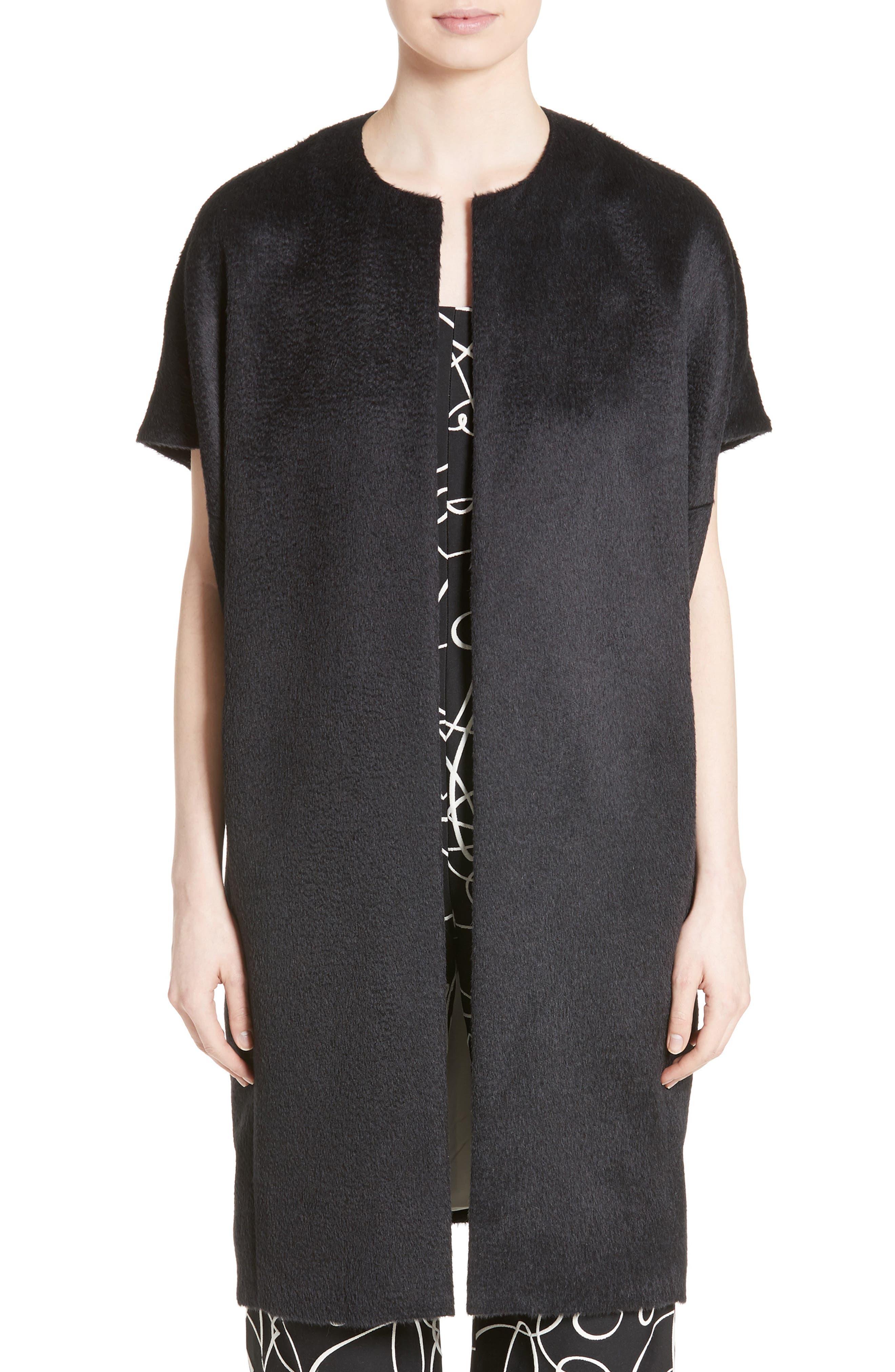 Zero + Maria Cornejo Koy Suri Alpaca & Wool Pleated Coat