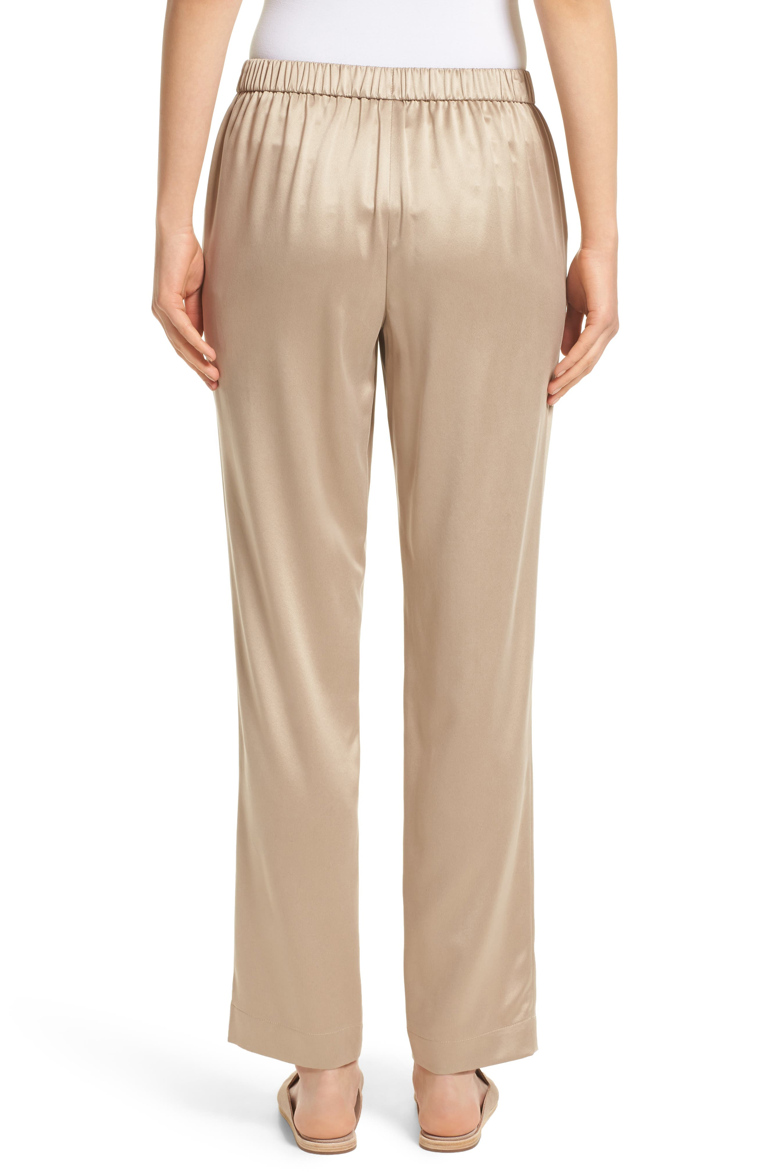 Alternate Image 2  - Lafayette 148 New York Soho Silk Track Pants