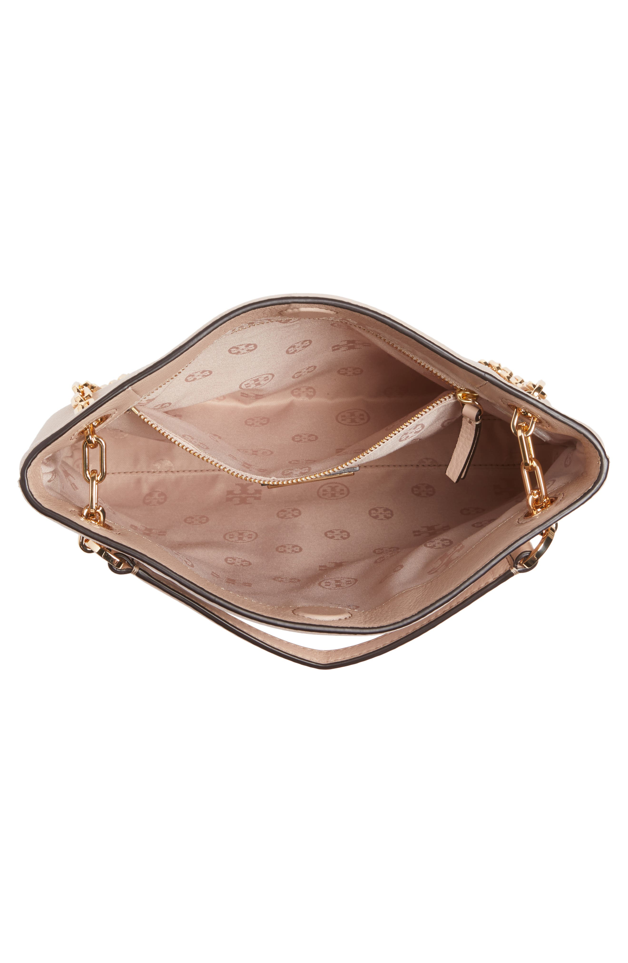 Frida Swingpack Leather Crossbody Bag,                             Alternate thumbnail 4, color,                             Light Oak
