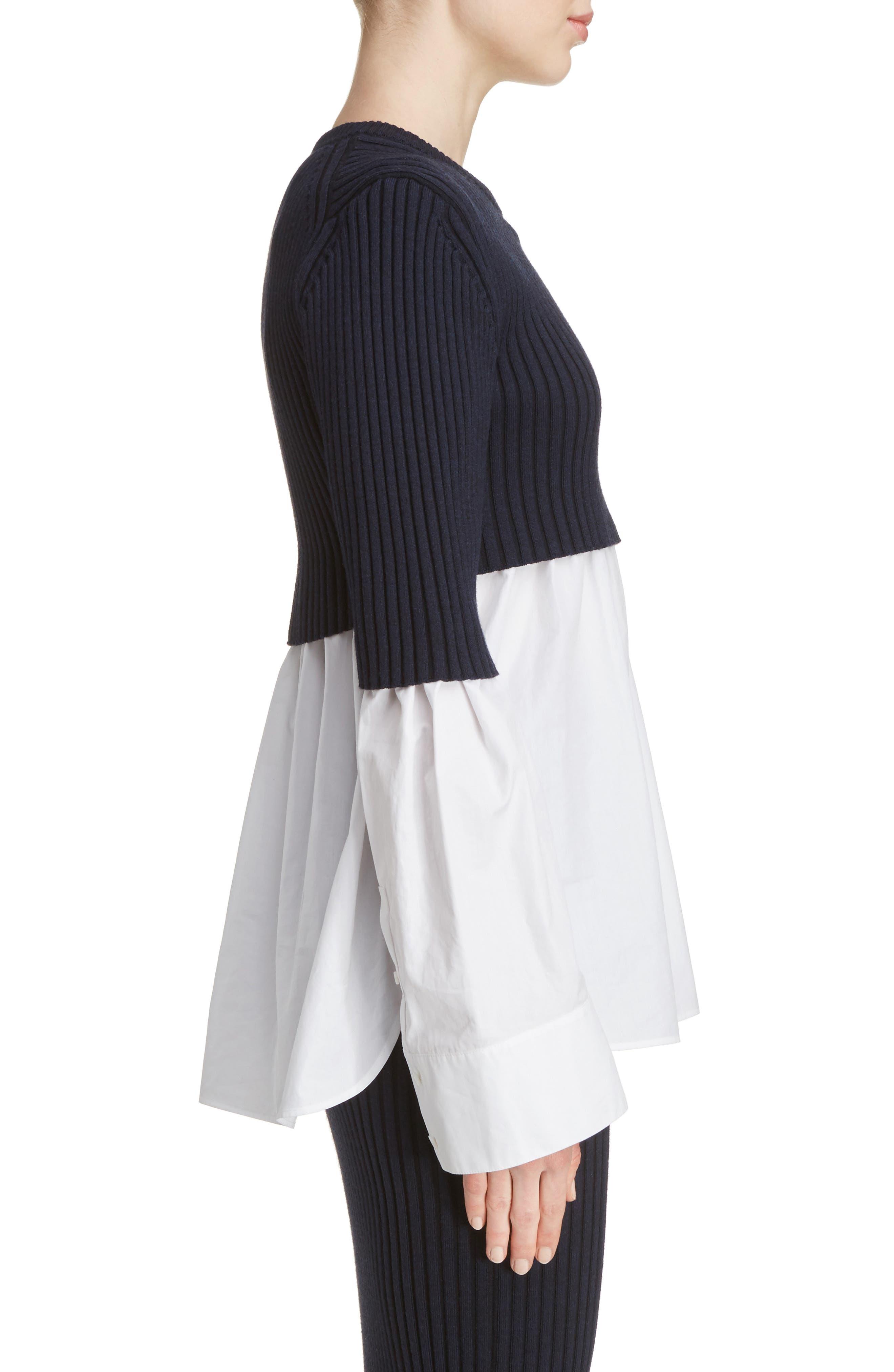 Alternate Image 4  - KENZO Knit Overlay Cotton Blouse