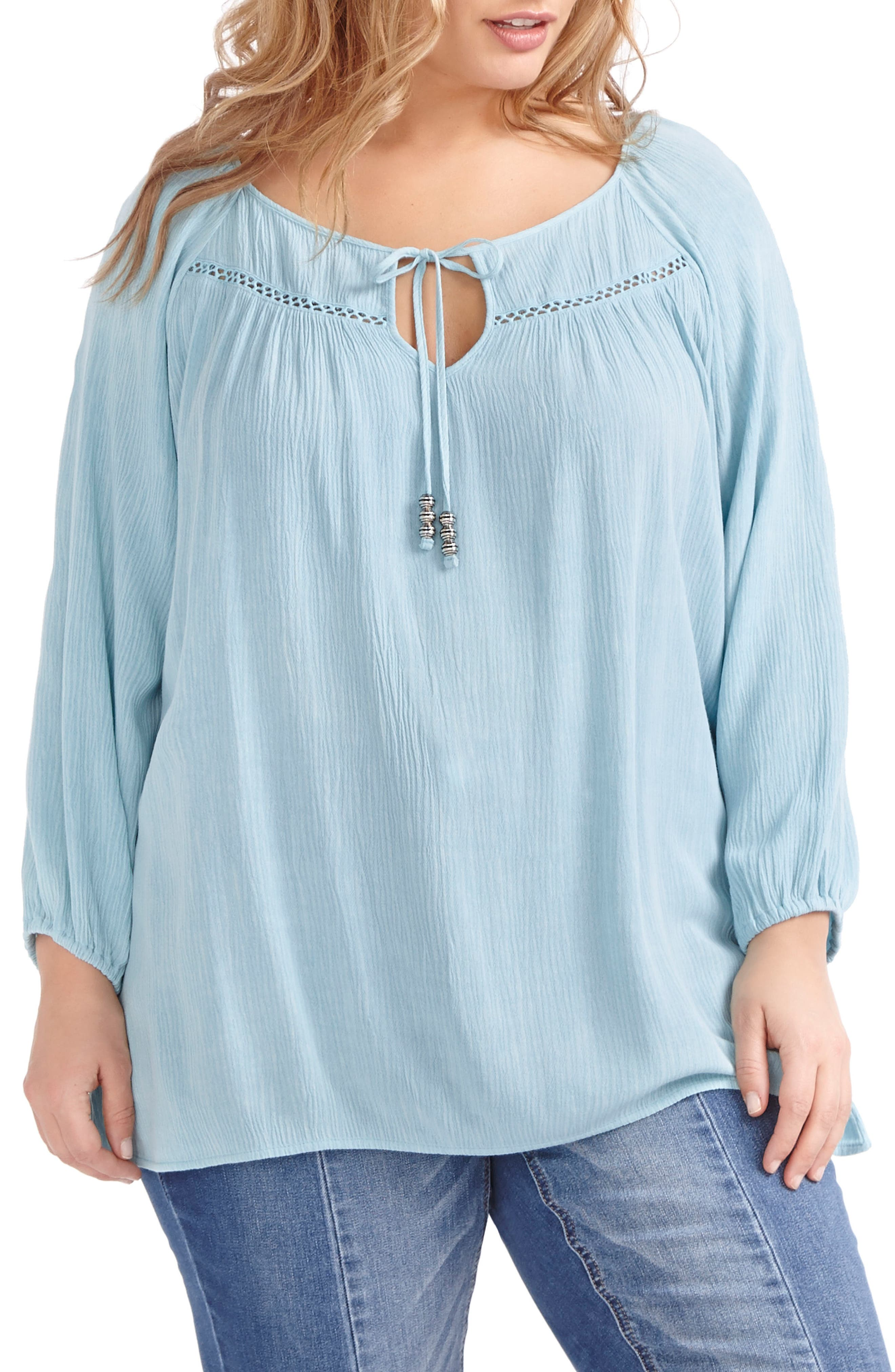 ADDITION ELLE LOVE AND LEGEND Peasant Blouse