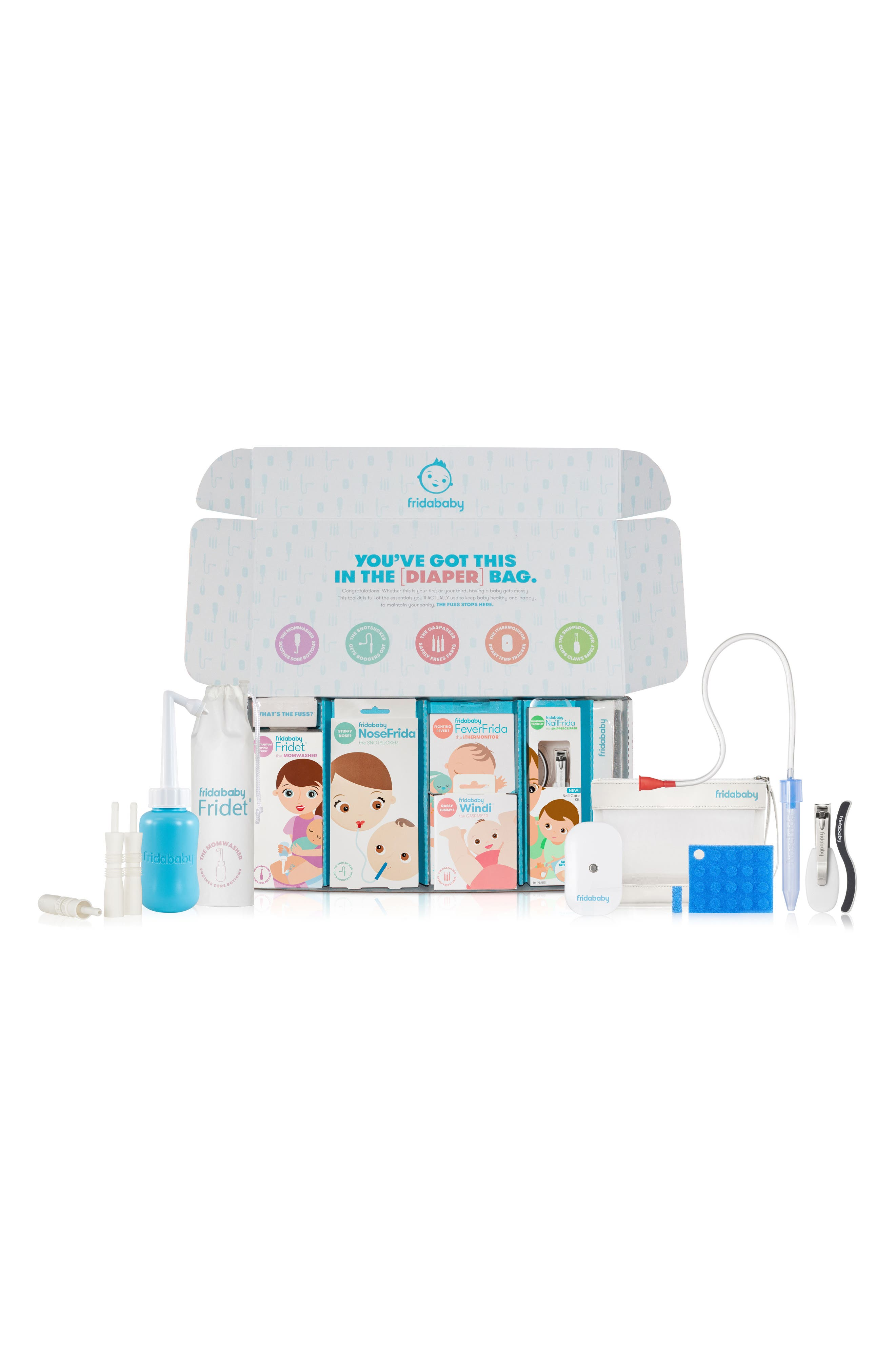 The Big Bundle Of Joy Newborn Care Kit,                         Main,                         color, White