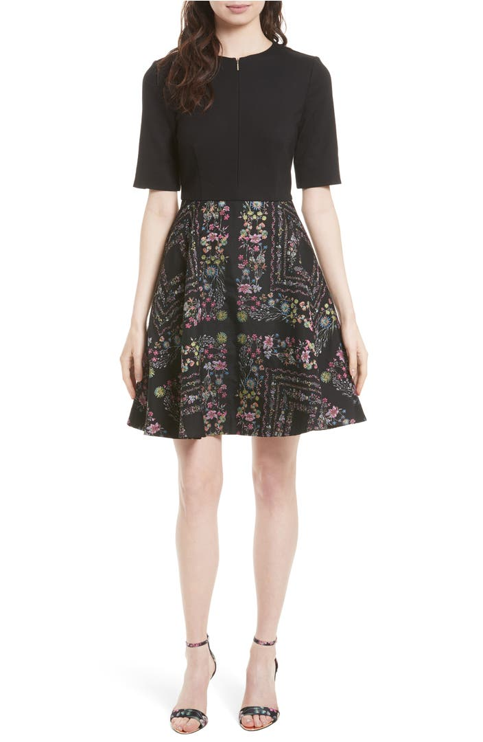 Ted Baker London Mooris Unity Floral Jacquard Dress