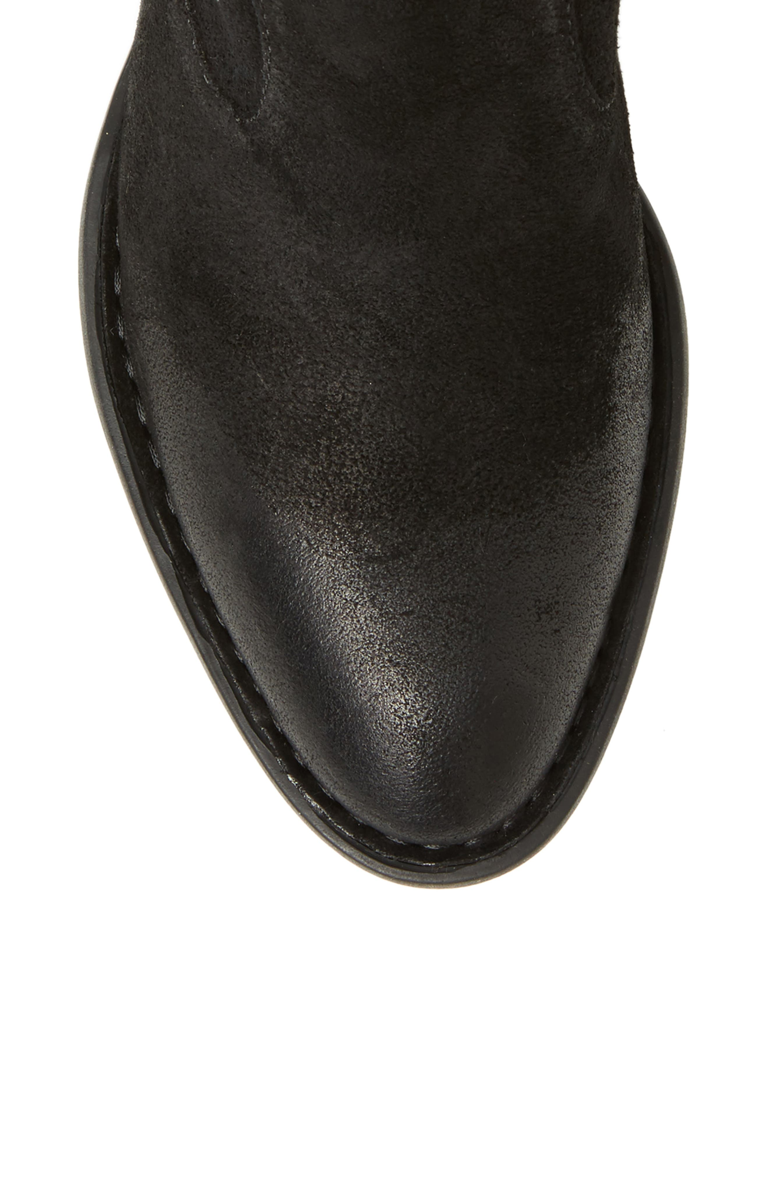 Barren Boot,                             Alternate thumbnail 5, color,                             Black Distressed Leather