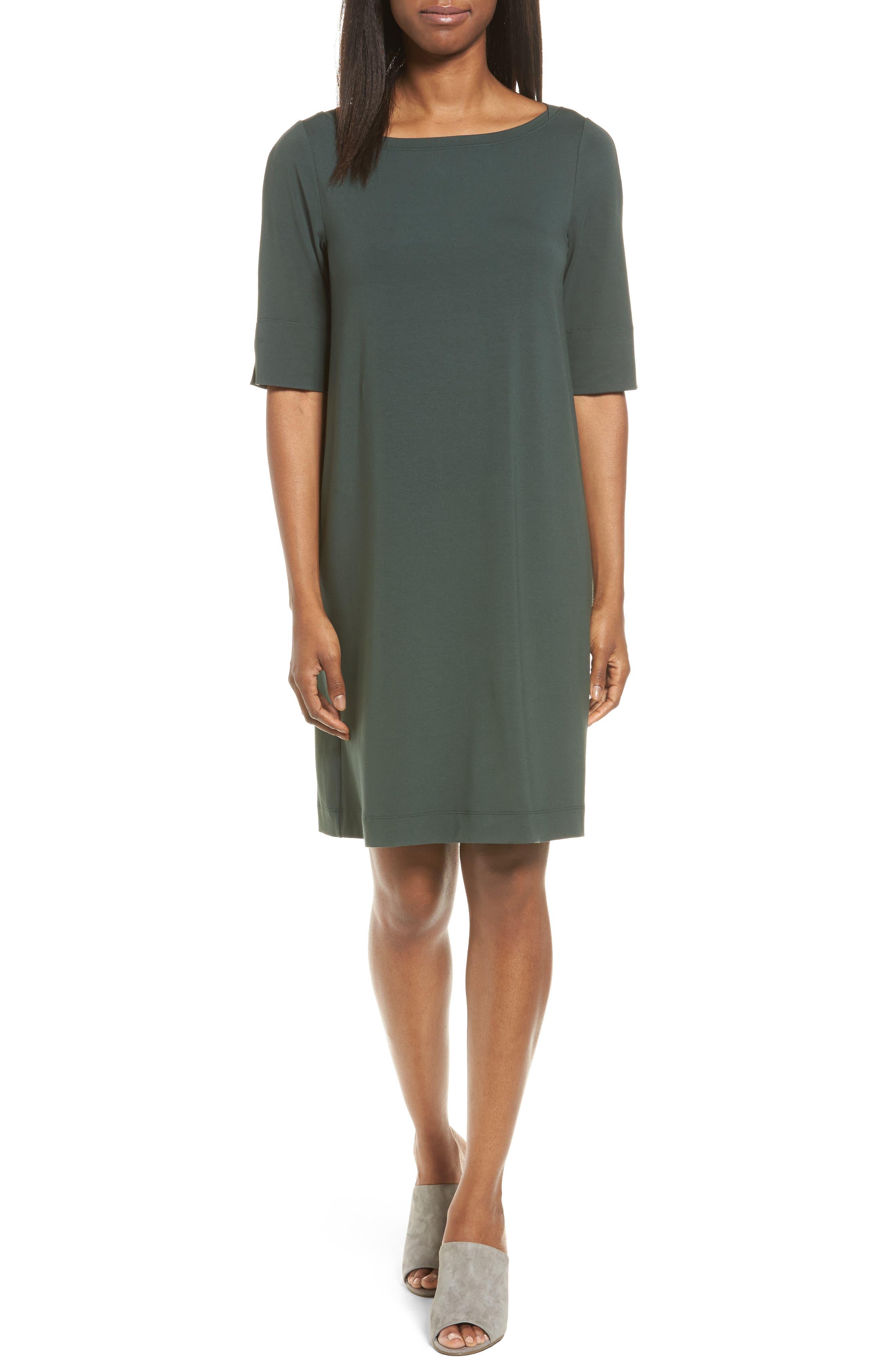 Eileen Fisher Jersey Shift Dress (Regular & Petite)