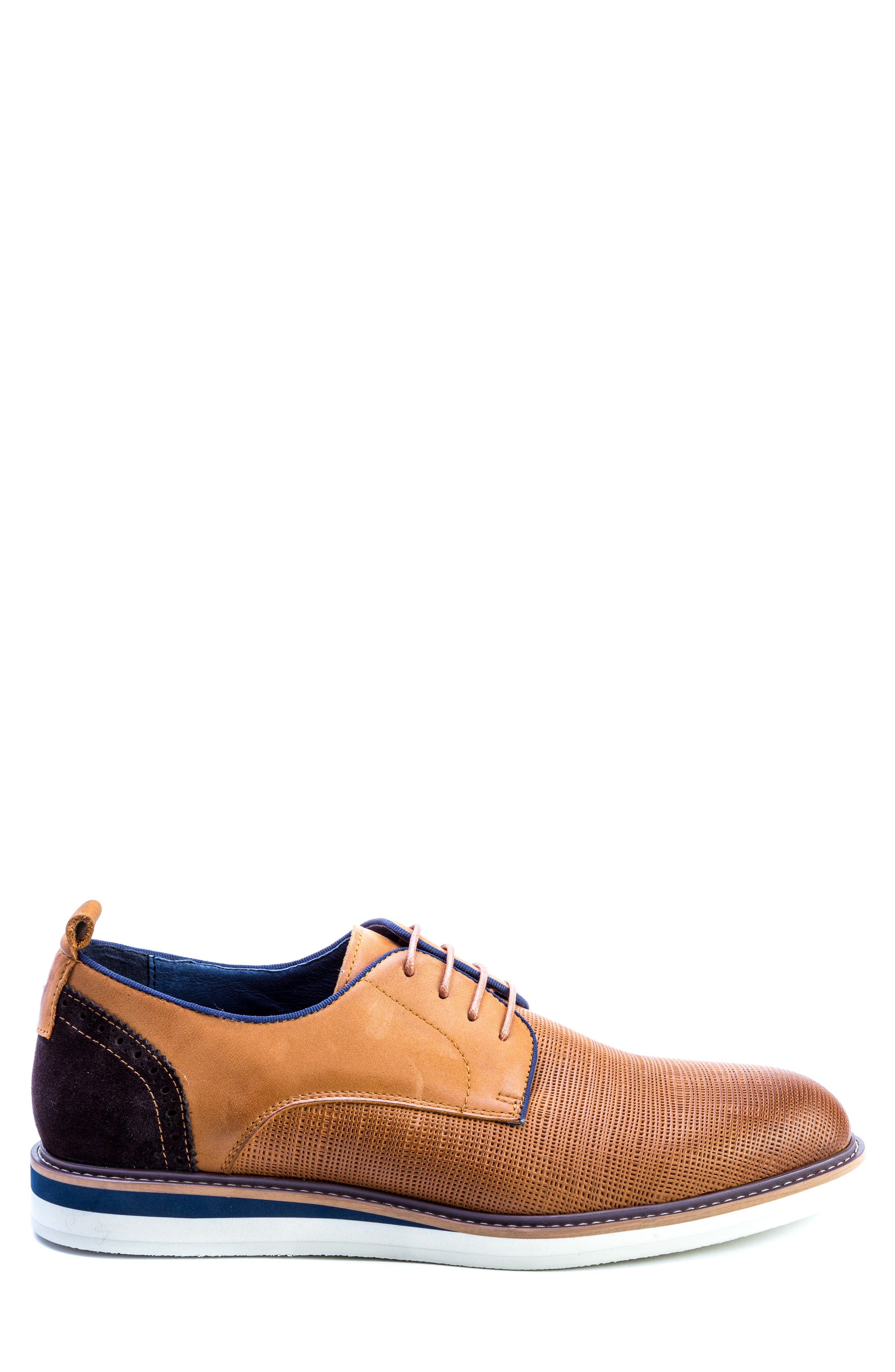 Homer Plain Toe Derby,                             Alternate thumbnail 3, color,                             Brown Suede