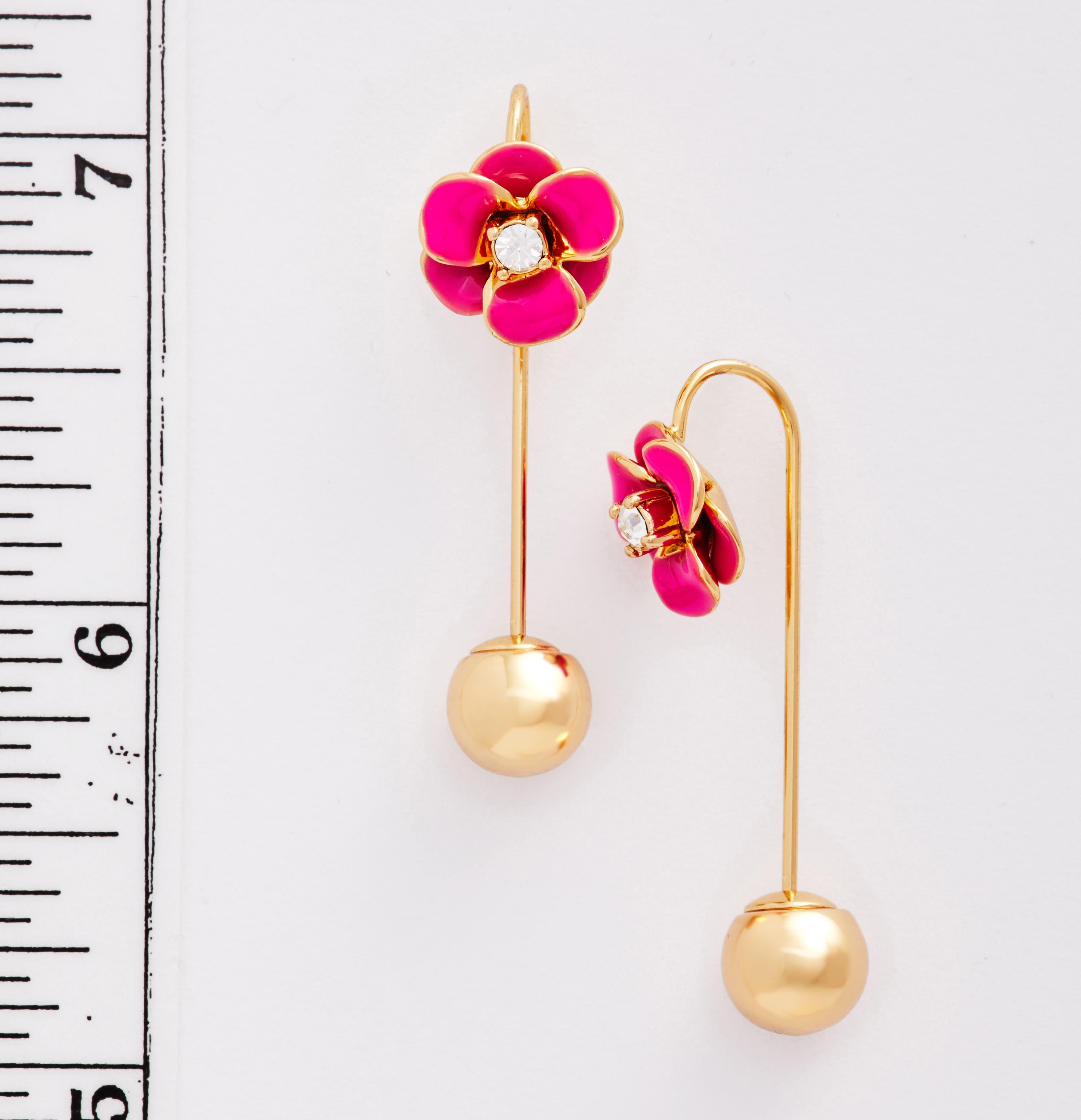 Alternate Image 2  - kate spade flower hanger drop earrings