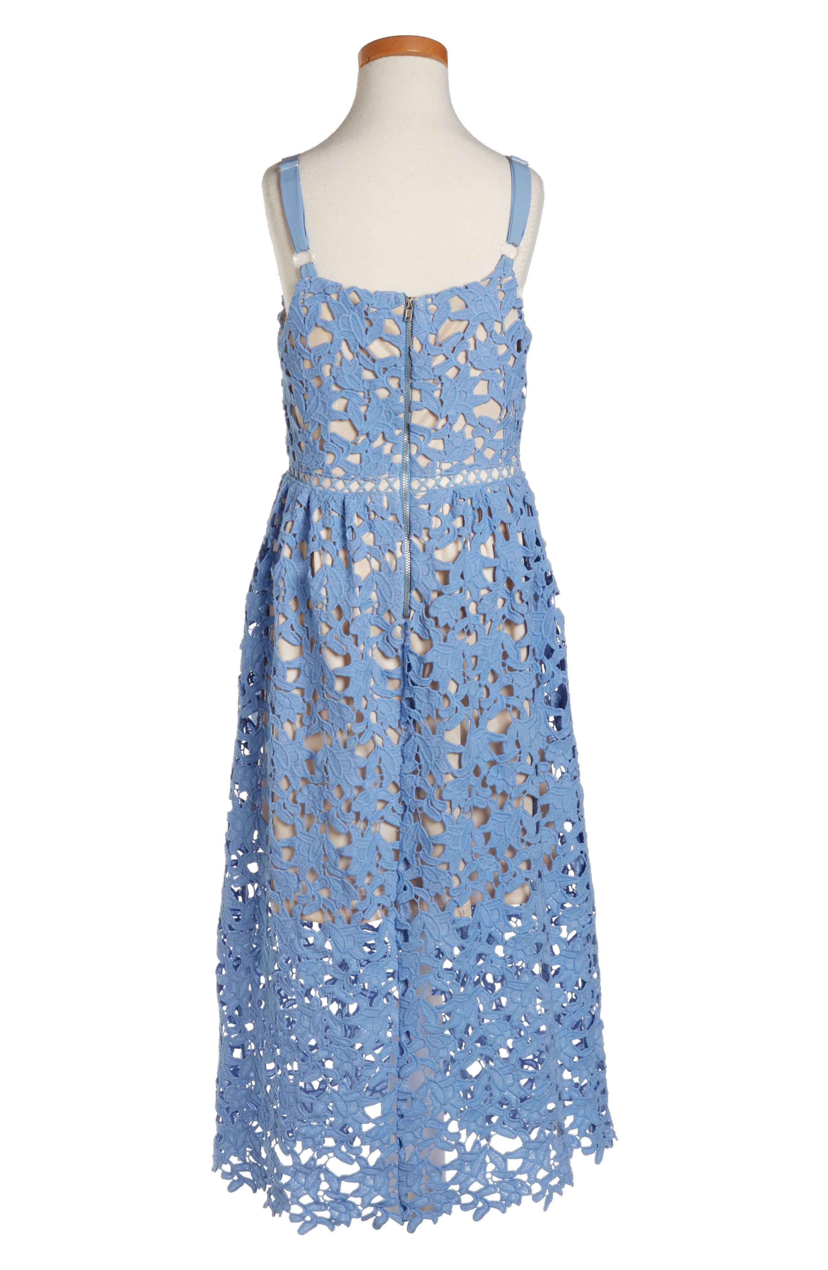 Alternate Image 2  - Trixxi Floral Lace Dress (Big Girls)