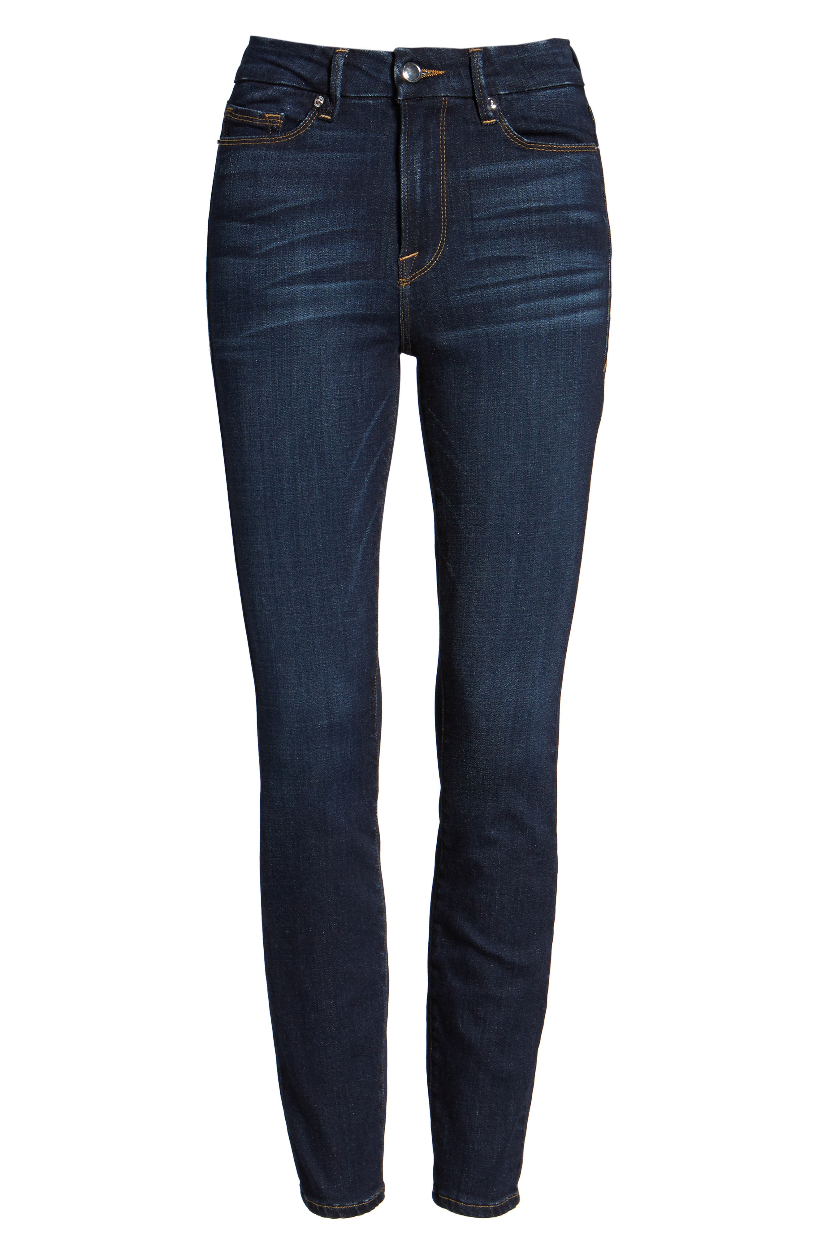Alternate Image 6  - Good American Good Legs High Waist Ankle Skinny Jeans (Extended Sizes)