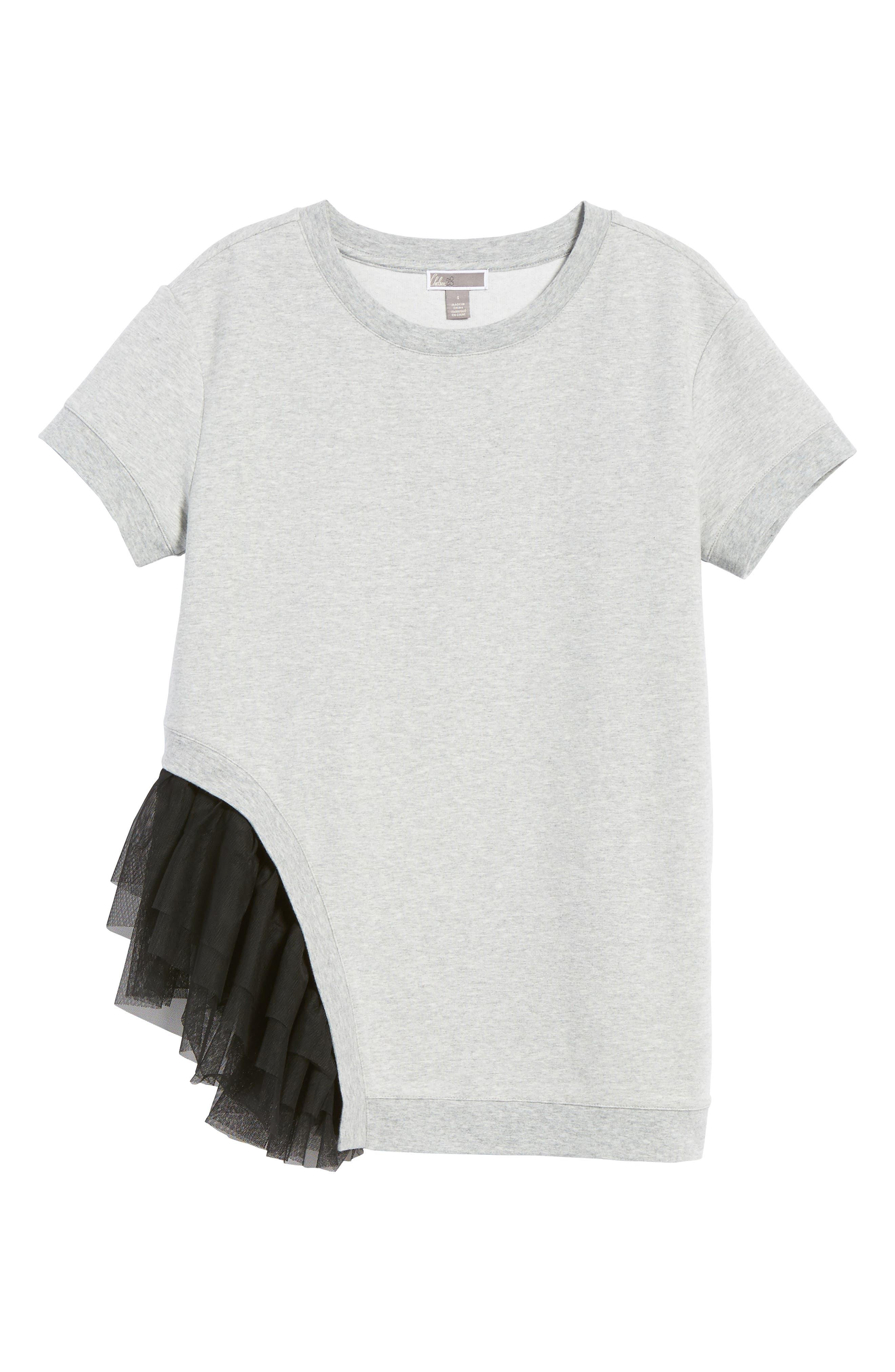 Alternate Image 7  - Chelsea28 Mixed Media Sweatshirt